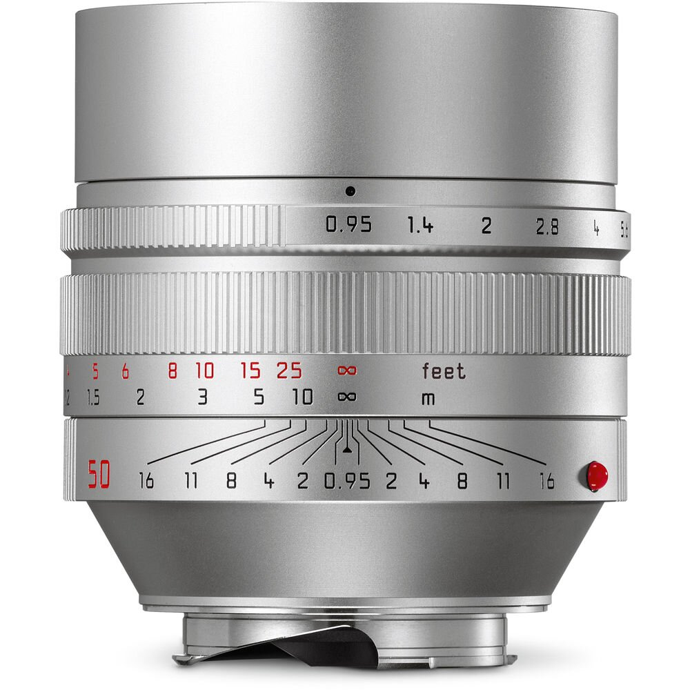 LEICA NOCTILUX-M 0.95/50 mm ASPH., silbern eloxiert 11667