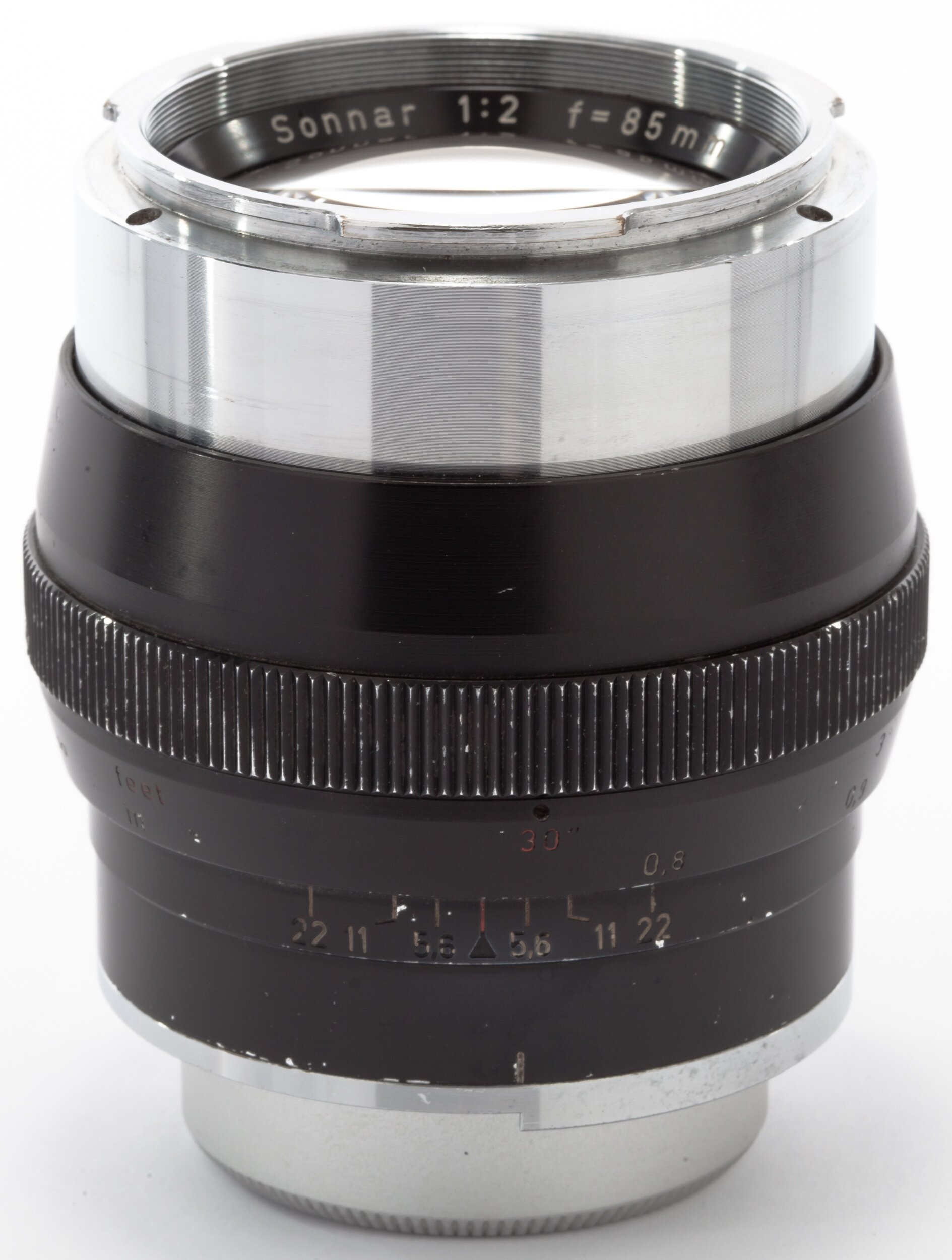 Carl Zeiss f. Contarex 85mm 2 Sonnar schwarz