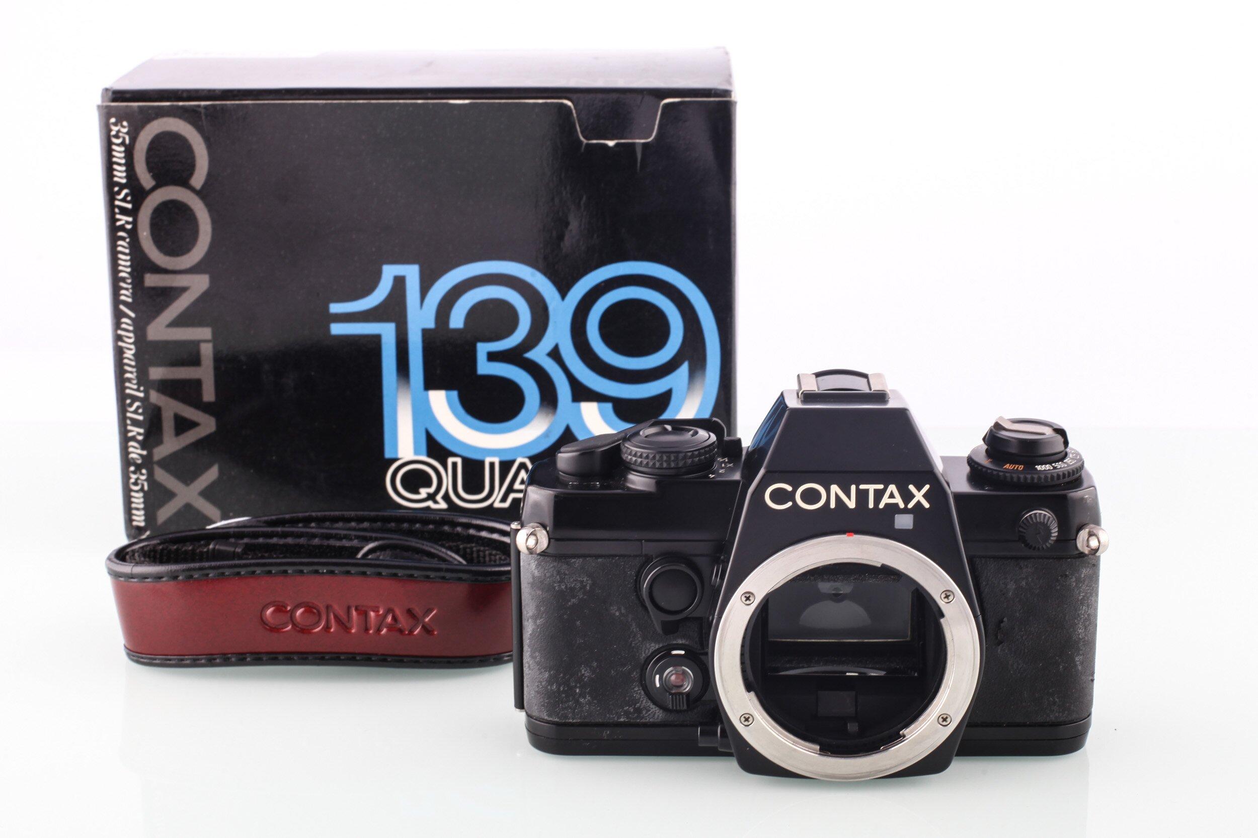 Contax 139 Quartz SLR gehäuse schwarz OVP