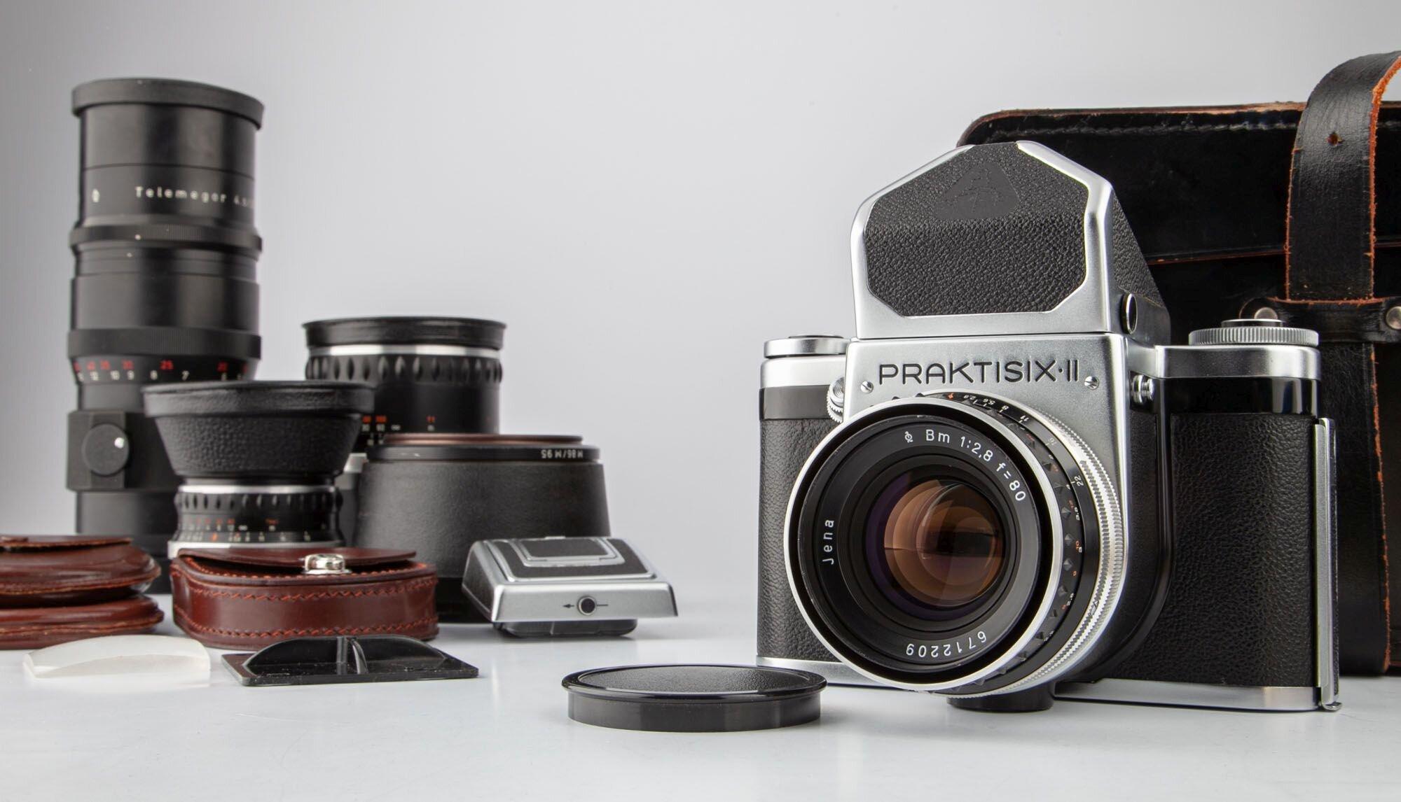 Pentacon Kamera Praktisix II-Set mit 3 Objektiven