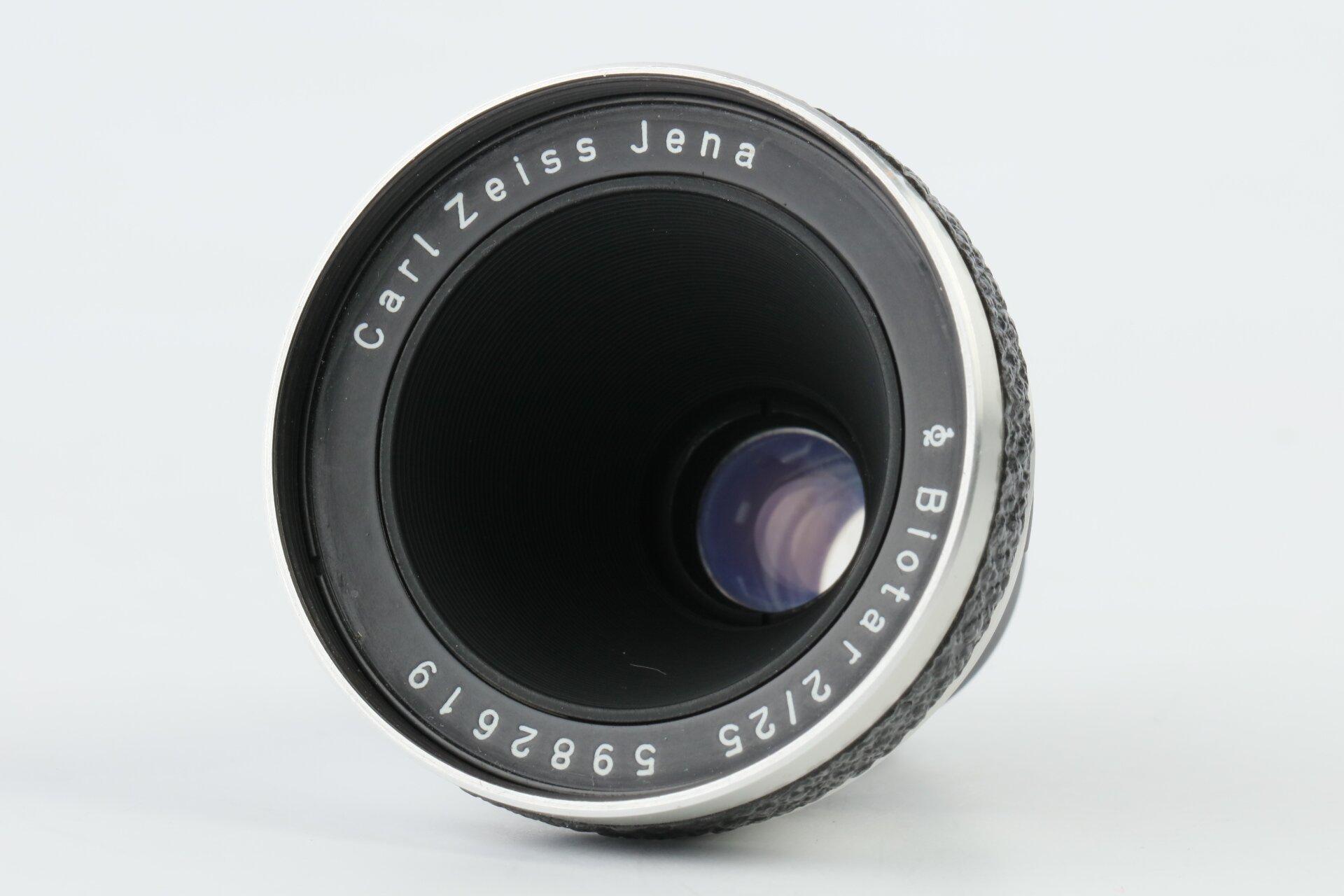 Carl Zeiss Jena Biotar 2/25mm Pentaflex 8