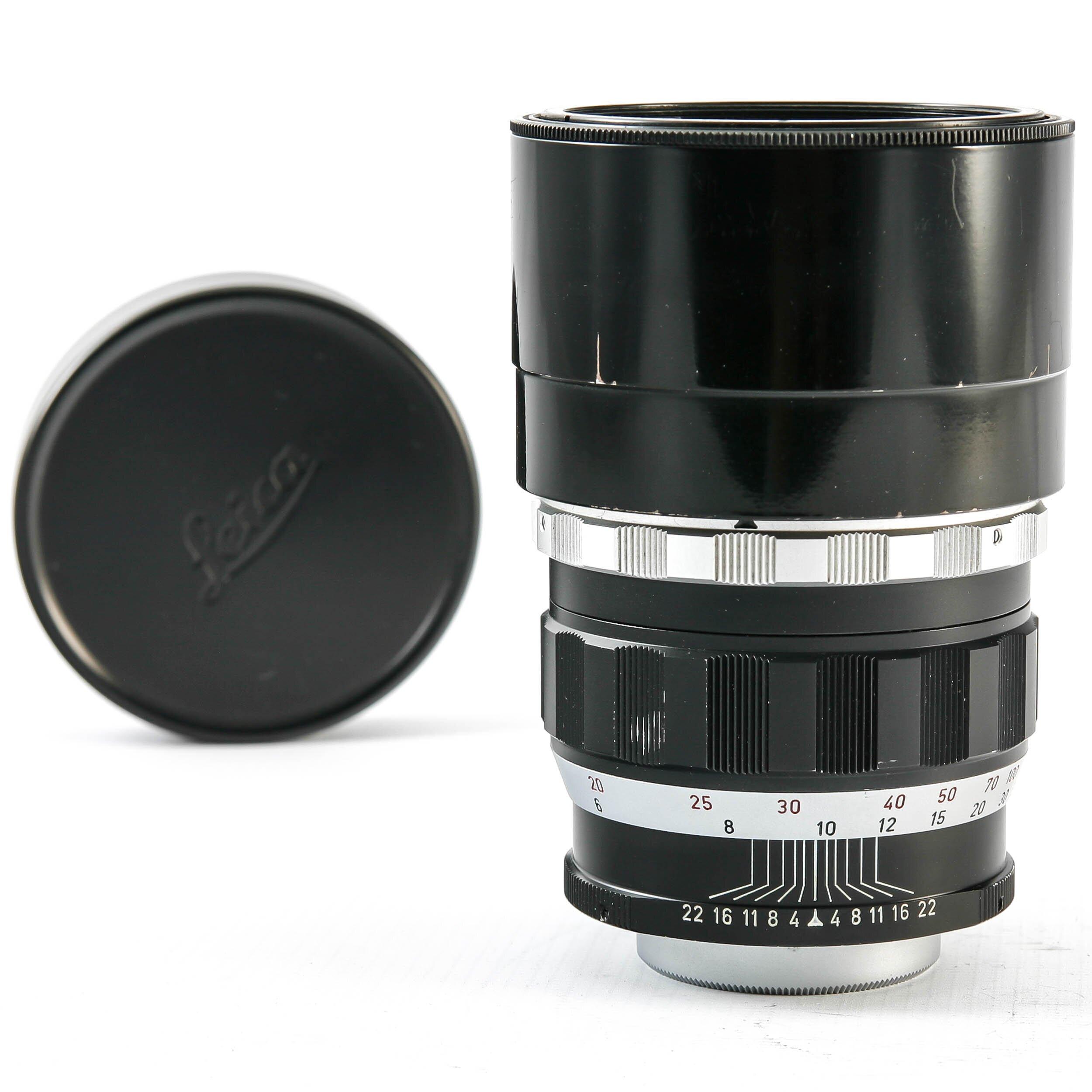 Leitz Leica Telyt M39 200mm F4.0 Black Silver