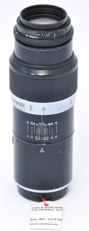Leica Schraub 1:4,5/13,5 cm Hektor schwarz M39