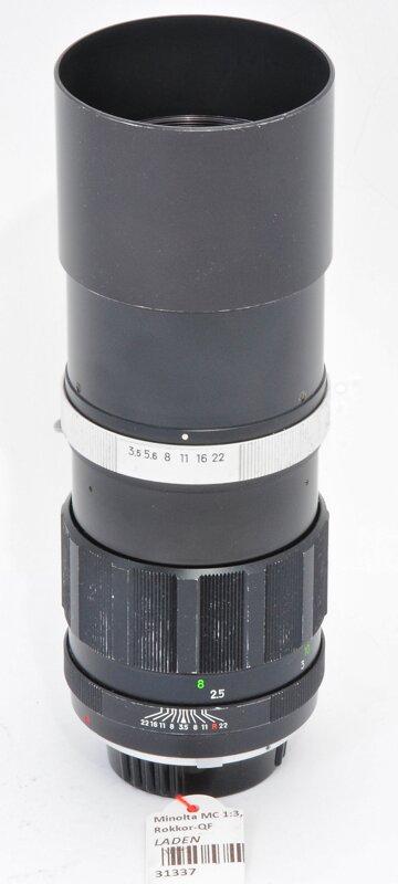 Minolta MC 200mm F3.5 Rokkor QF