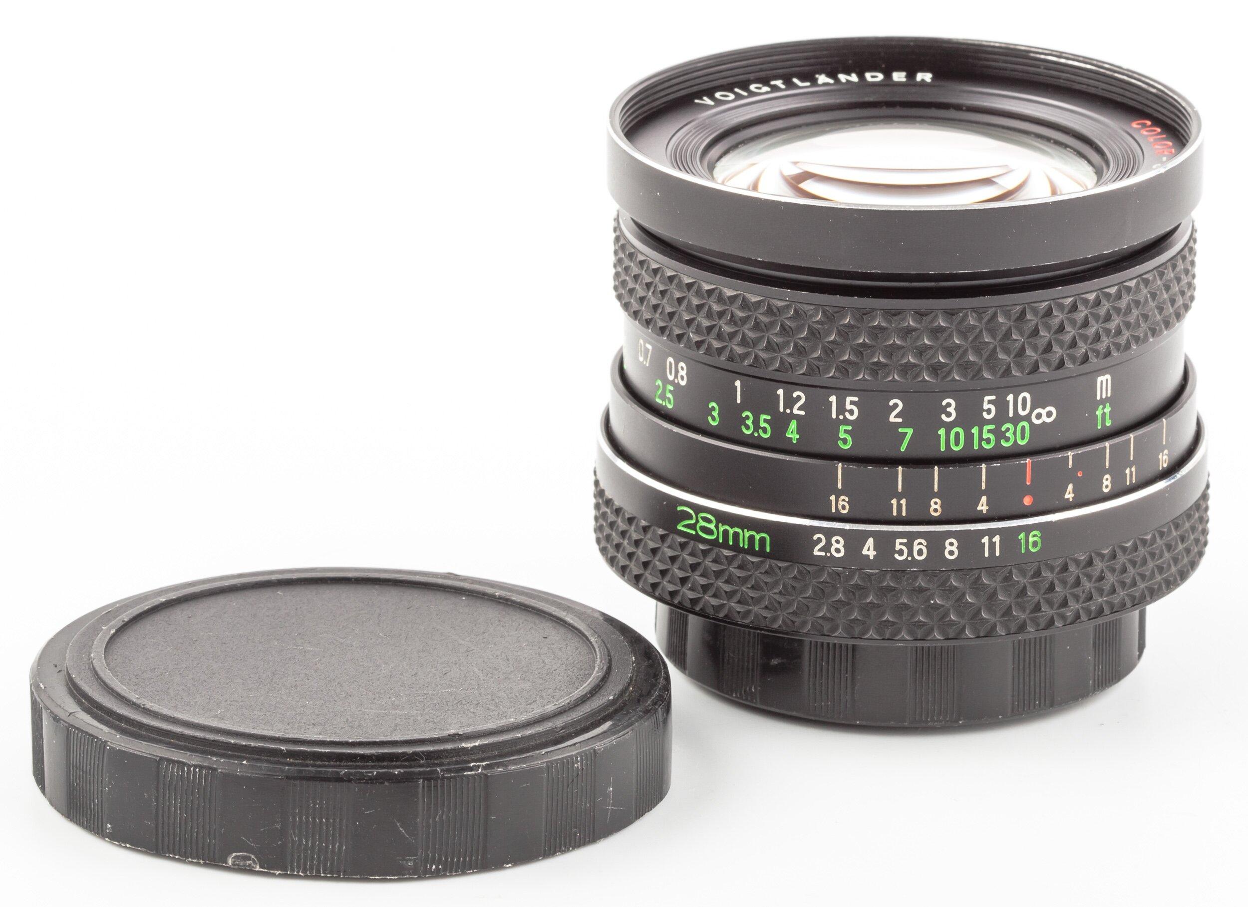 Voigtländer Color Skoparex 28mm F2.8 AR Rollei QBM