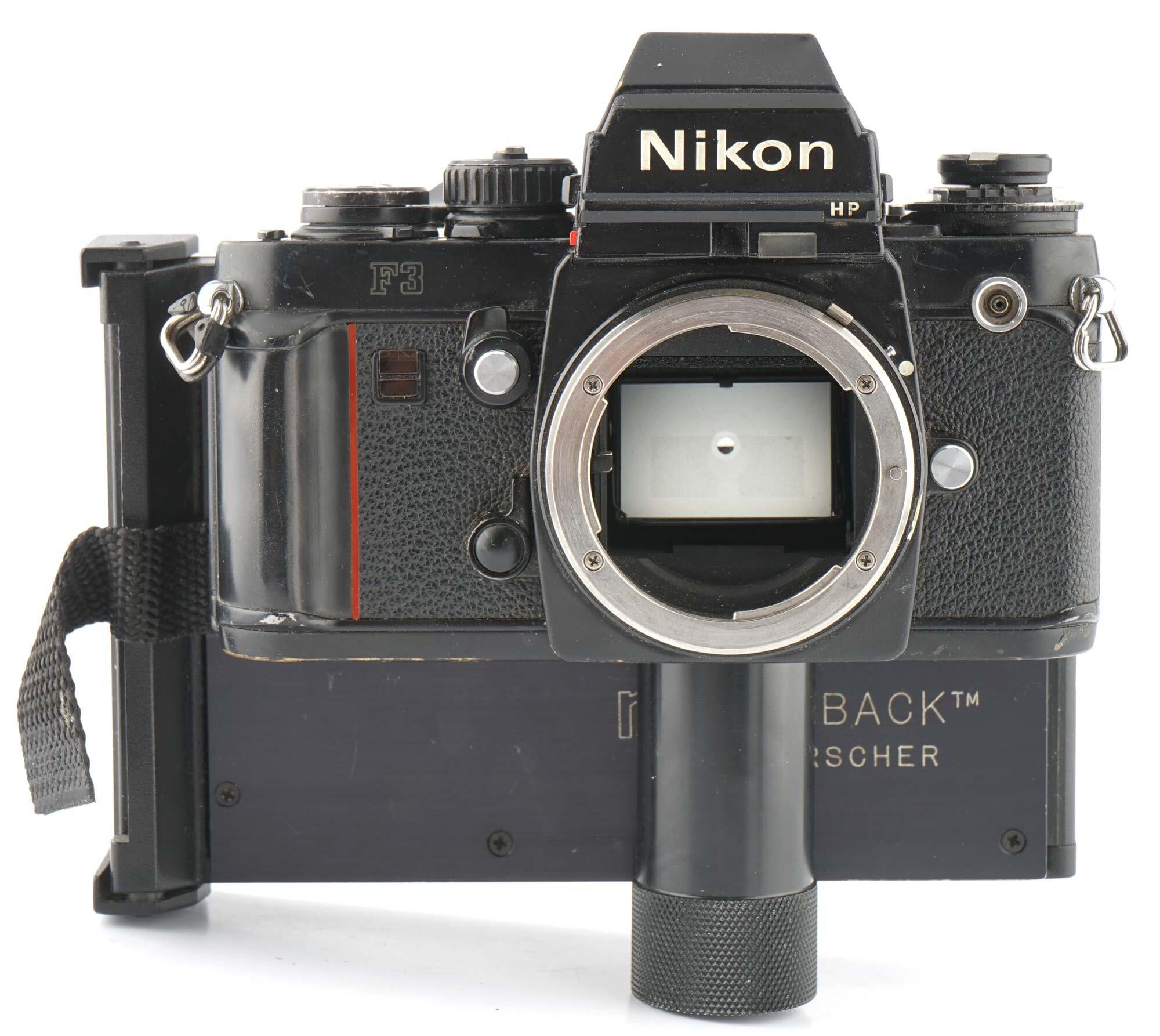 Nikon F3 HP Gehäuse + NPC Proback Polaroid Rückwand