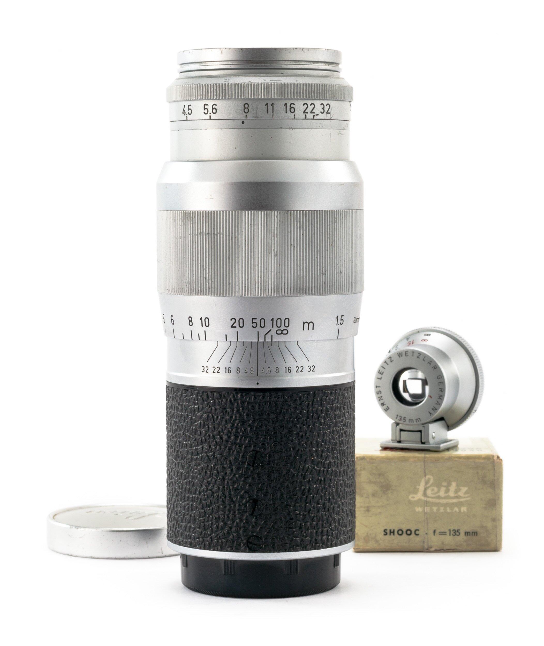 Leica Hektor 13,5cm F4.5 mit Leica SHOOC Sucher