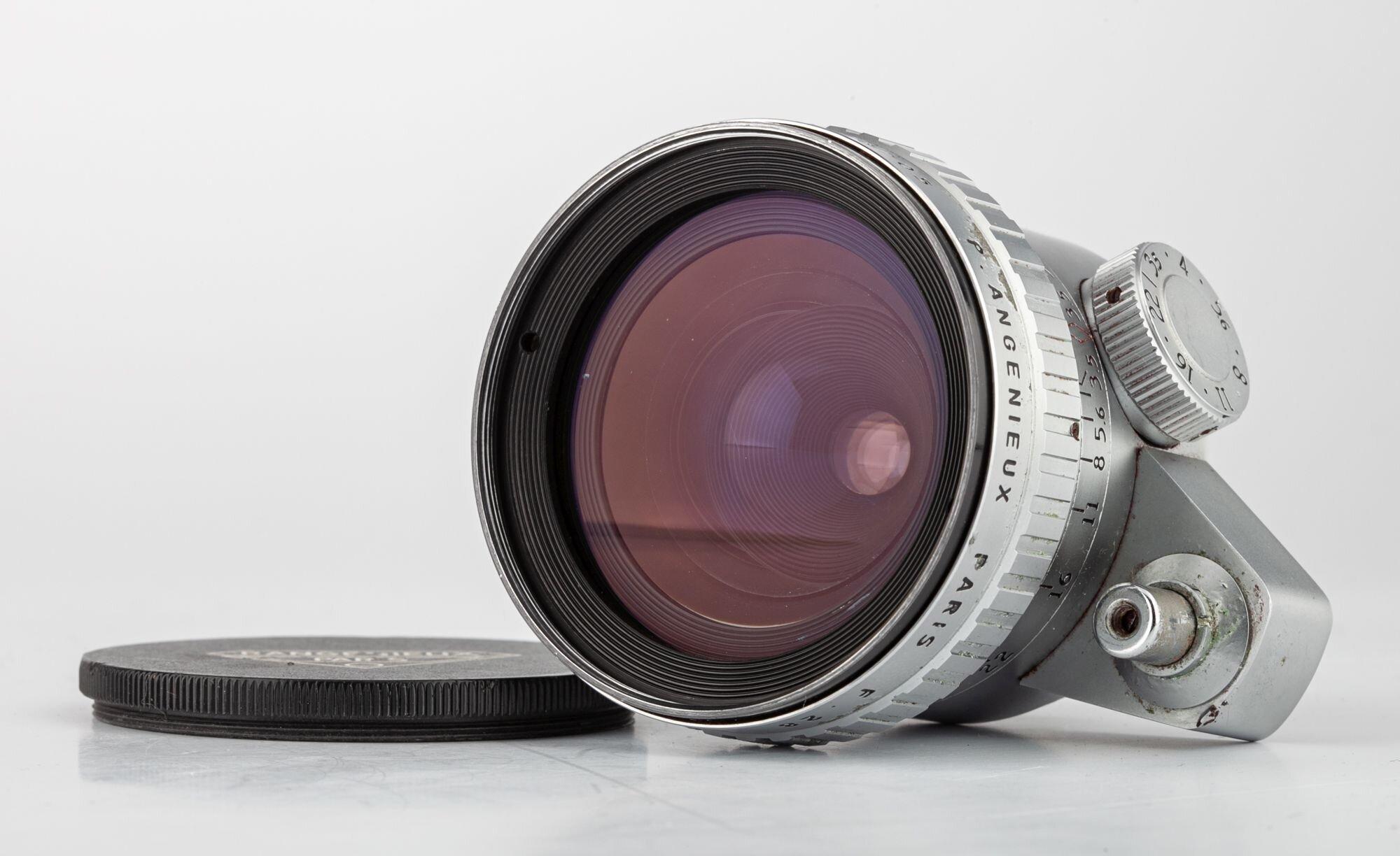 P.Angenieux Paris F.28mm 1:3,5 Retrofocus Type R 11chrom für Exacta