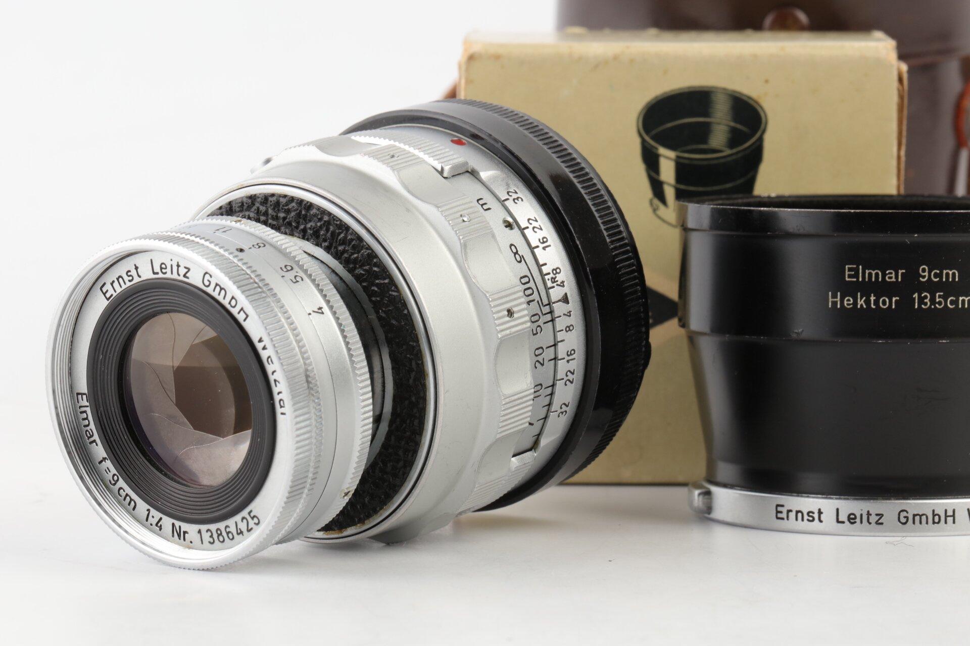 Leica M Elmar 9cm 4 versenkbar + IUFOO Gegenlichtblende