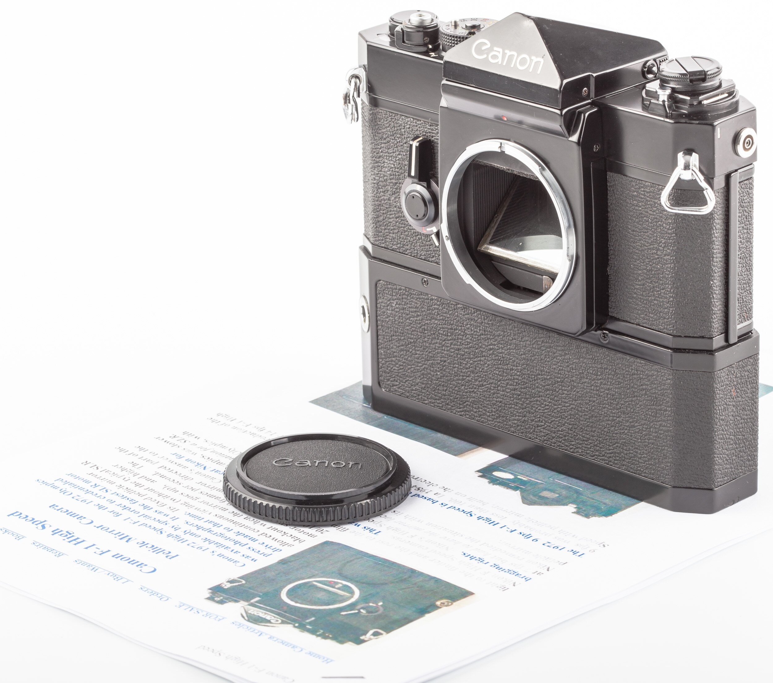 Canon F-1 High-Speed  Motor Drive Kamera sehr selten Sondermodell 1972