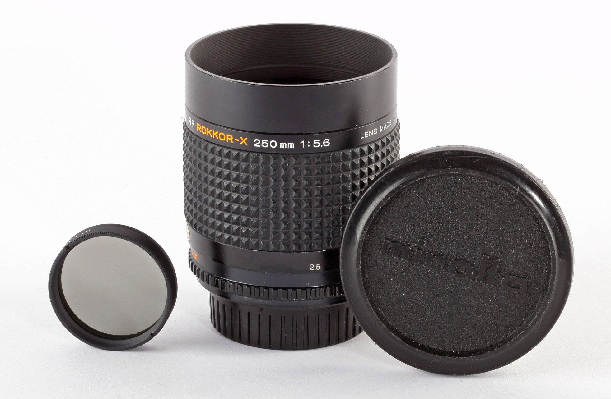 Minolta RF Rokkor-X 250mm/5,6 Set