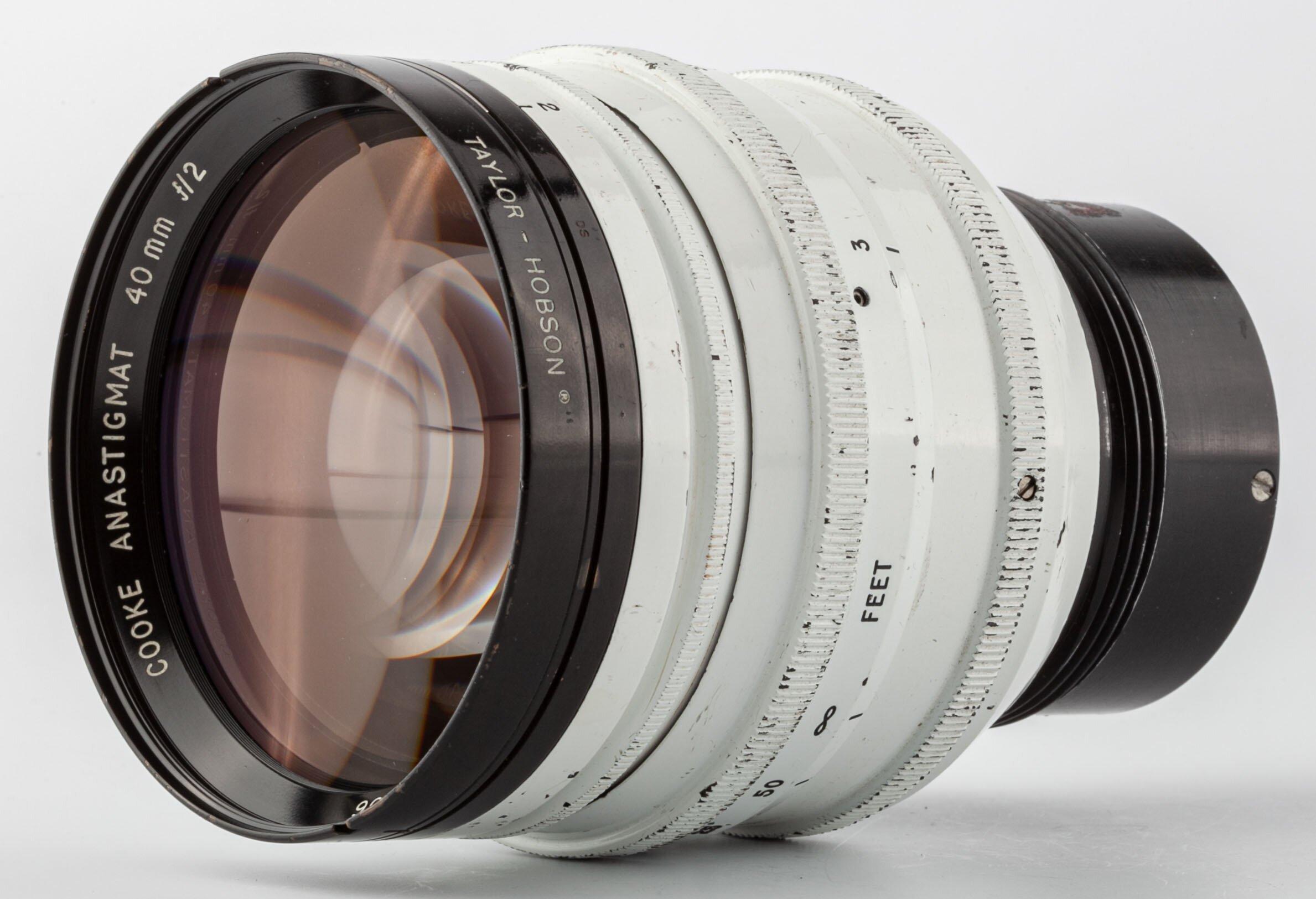 Cooke Anastigmat 40mm f2 TAYLOR-HOBSON White Lens