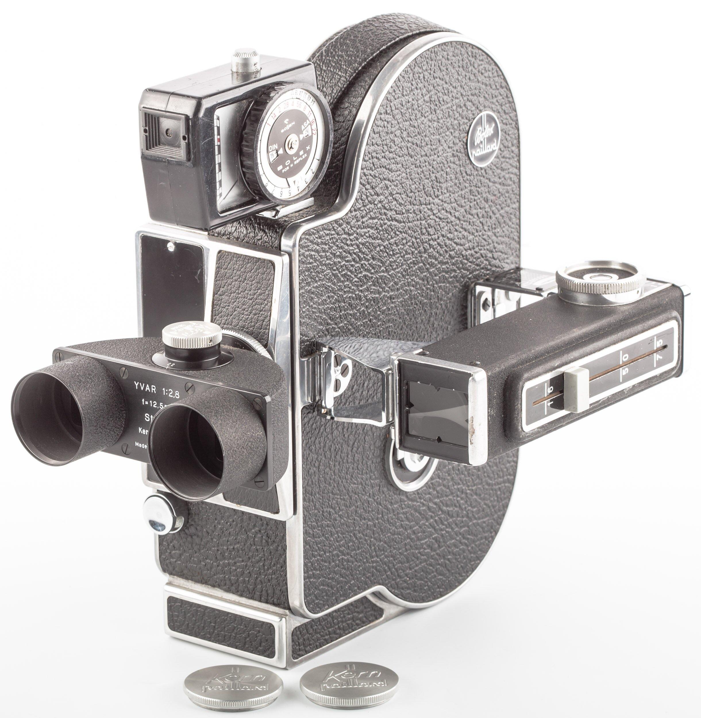 Bolex H16 M-4 mit Kern Stereo-Yvar 2,8/12,5 mm, Bolex Belichtungsmesser