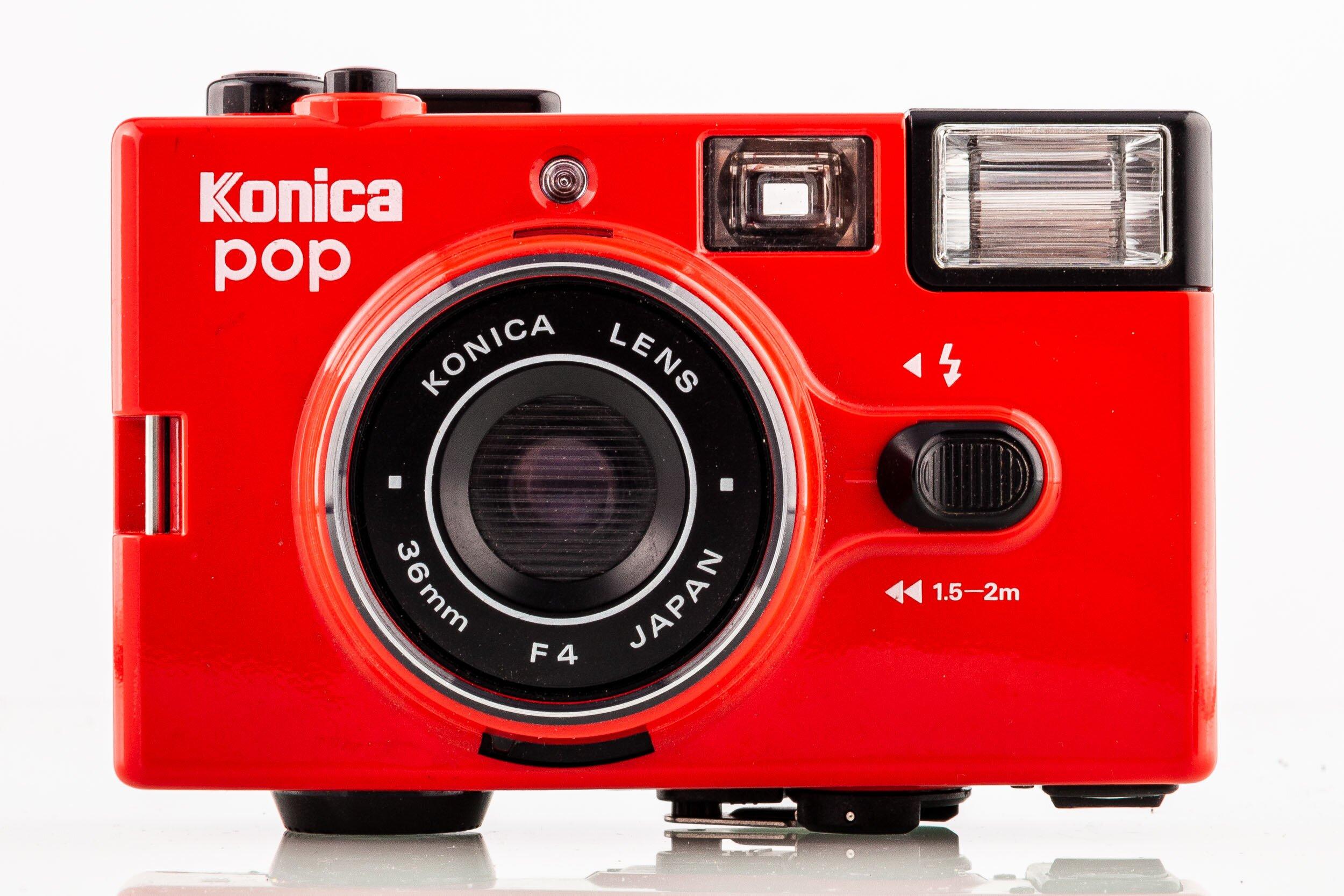 Konica pop Rote Kompaktkamera selten