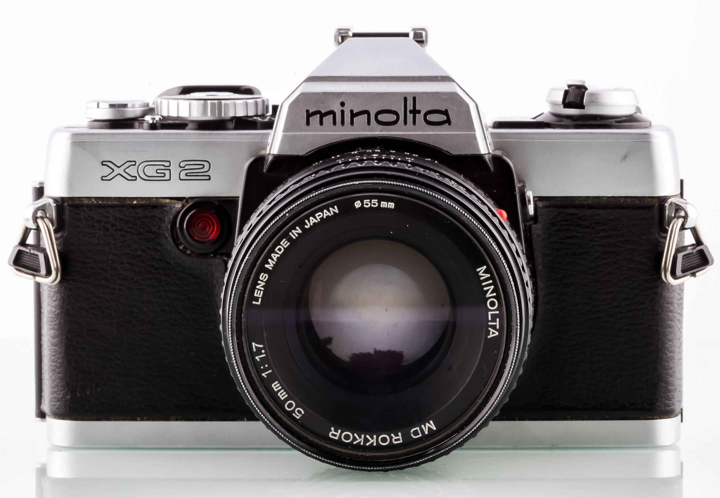 Minolta XG 2 mit MD Rokkor 50mm F1.,7 - 35mm Filmkamera