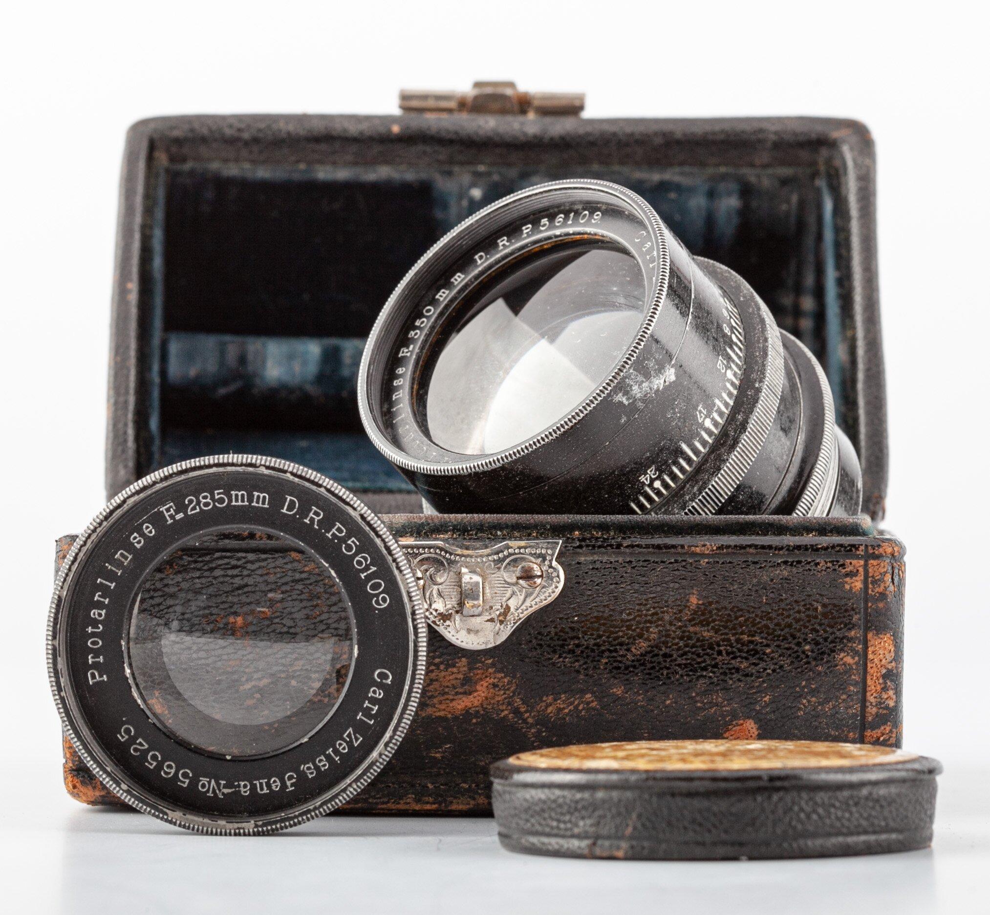 Carl Zeiss Jena Protarlinse Set mit 350mm/285mm/224mm in Original Box