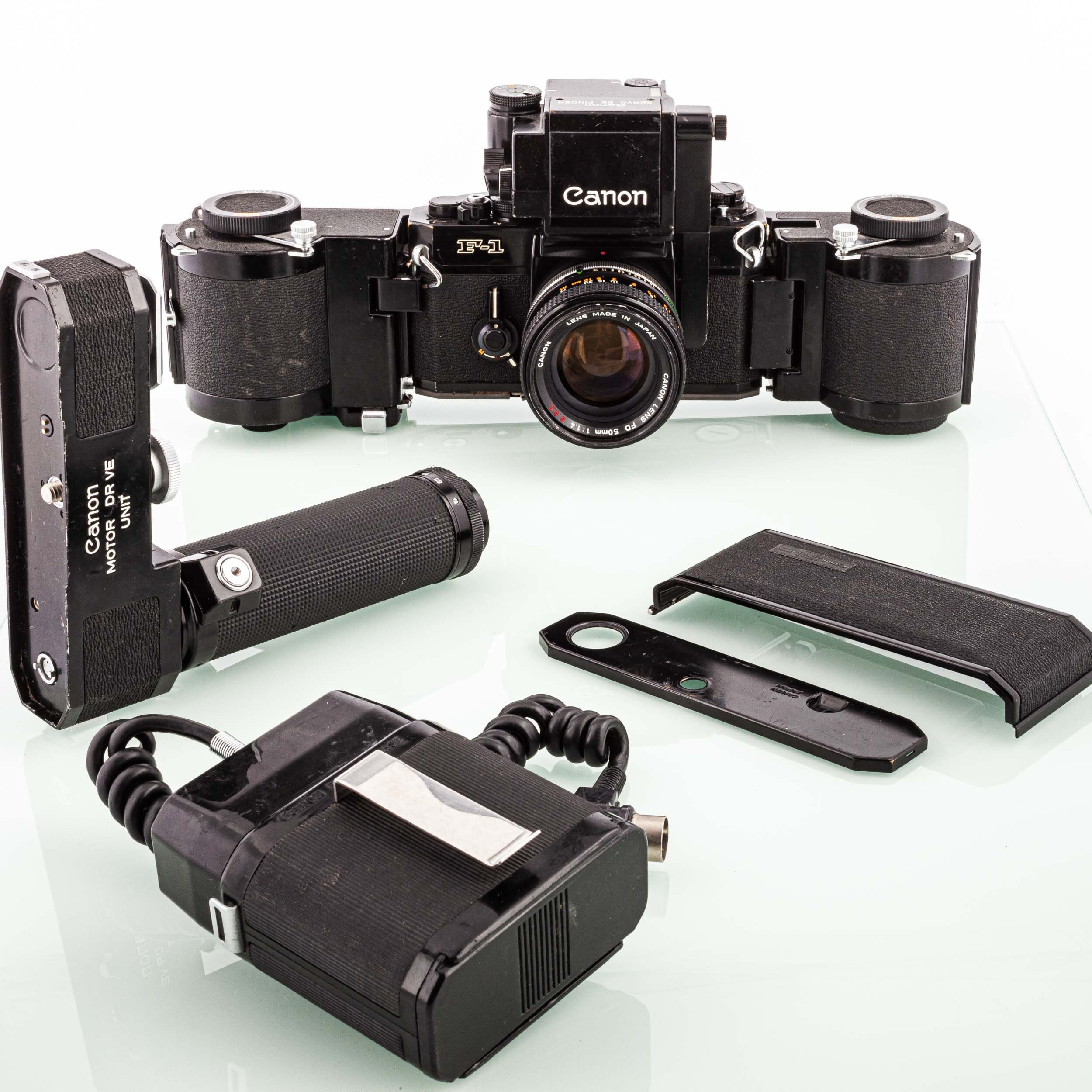 Canon F-1 motor DR VE Unit + Film Chamber 250 + Canon 1,4/50mm