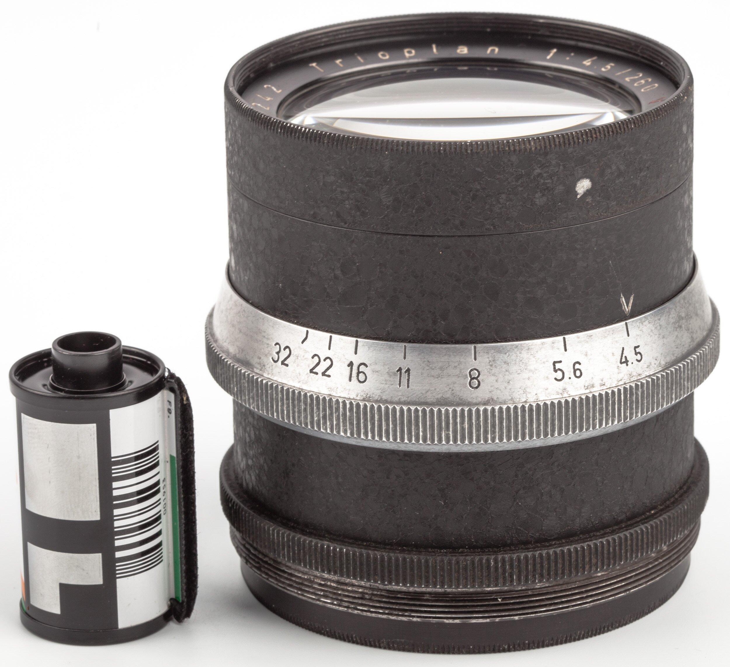 Meyer-Optik Görlitz 260mm 4,5 Trioplan V