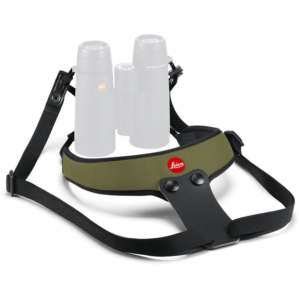 Leica Neopren Fernglasgurt Sport, olivgrün 42059