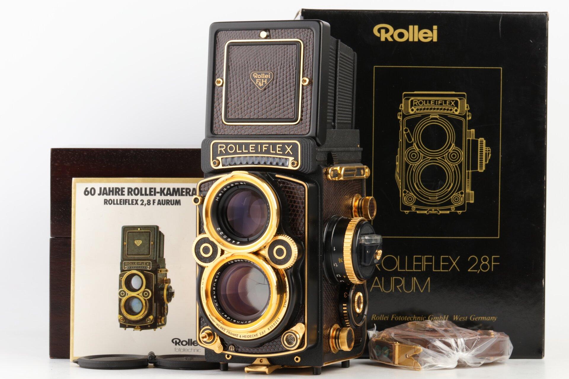 Rolleiflex 2,8F Aurum mit 2,8/80mm Xenotar Gold Edition