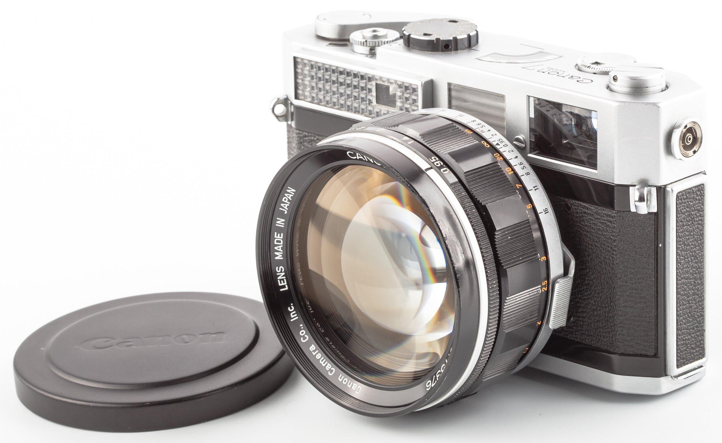 Canon 7 mit Canon Lens 50 mm 0,95