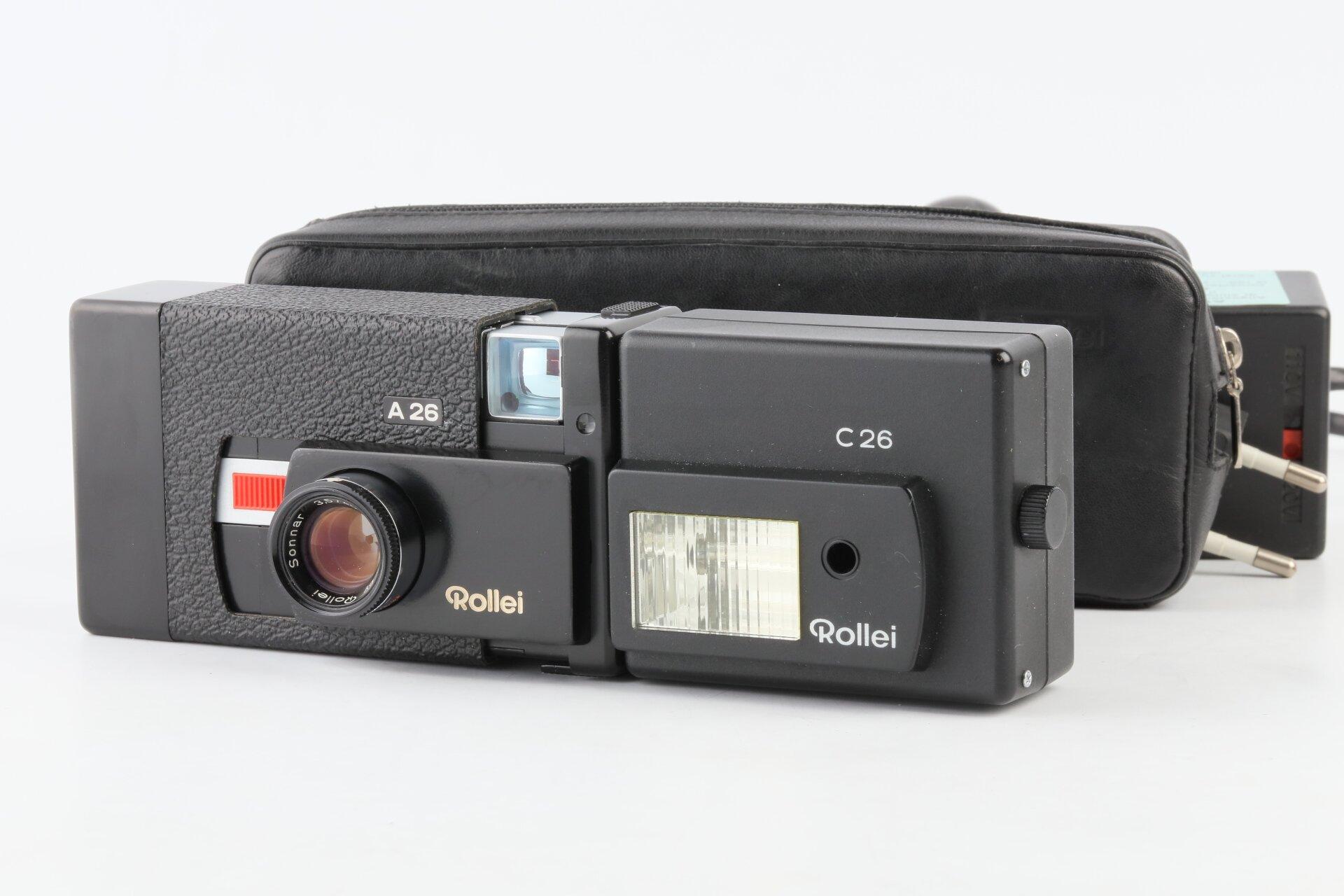 Rollei A26 mit Sonnar 40mm F3,5 + C26 Blitz