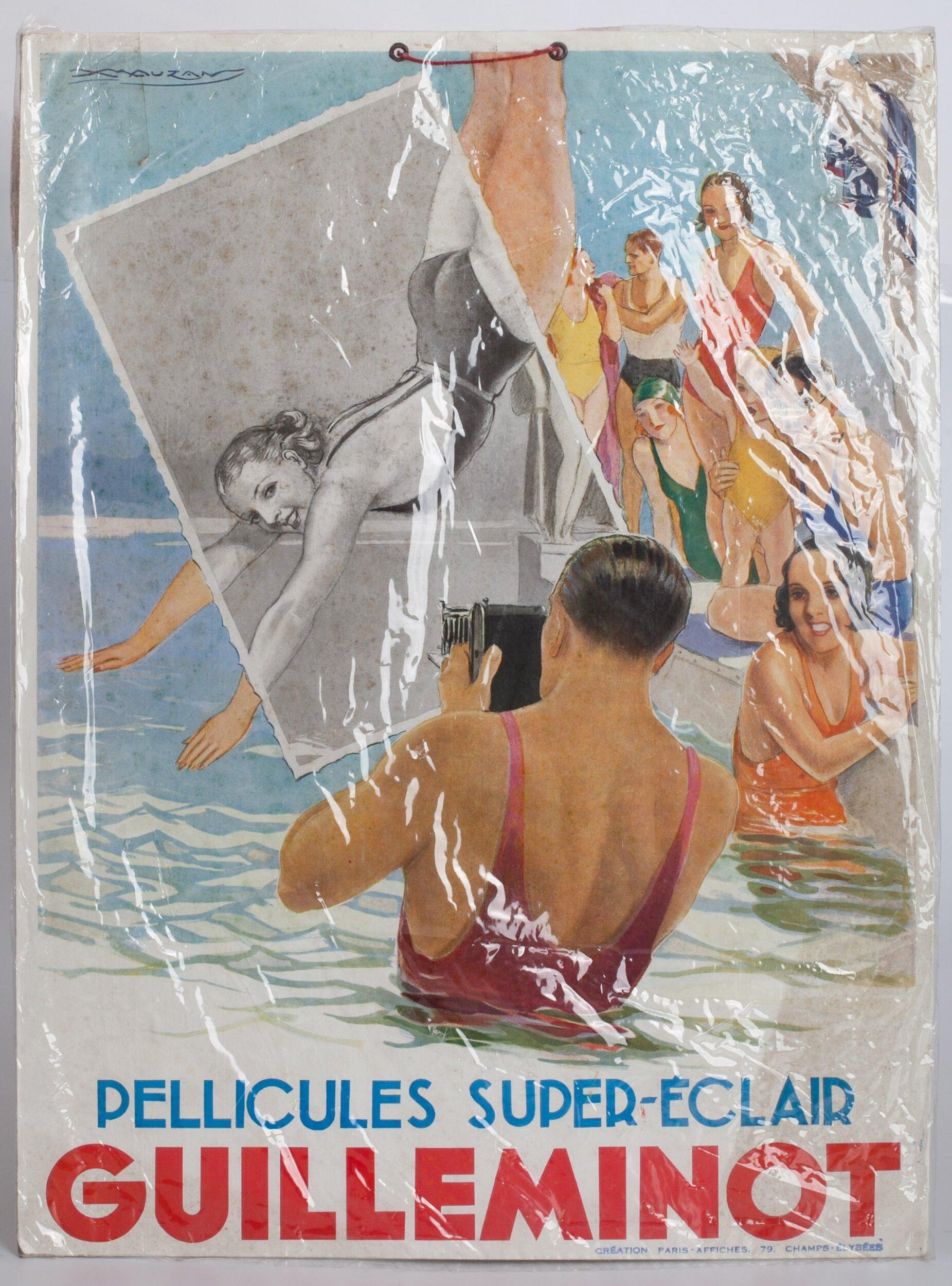 Pellicules Super-Eclair Gaullemont  Werbeschild 34,5x46cm