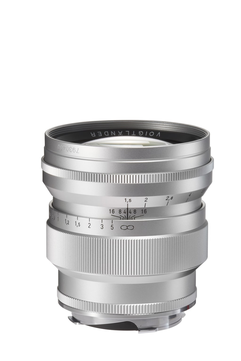 Voigtländer VM 75mm 1,5 Nokton Leica M silber