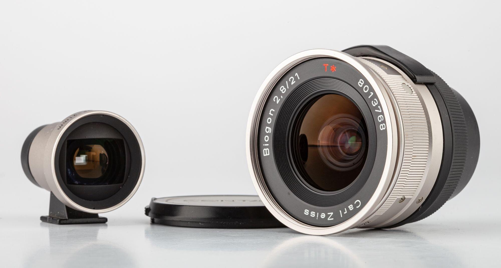 Carl Zeiss Biogon 21mm F/2.8 T* fürContax + GF-21mm