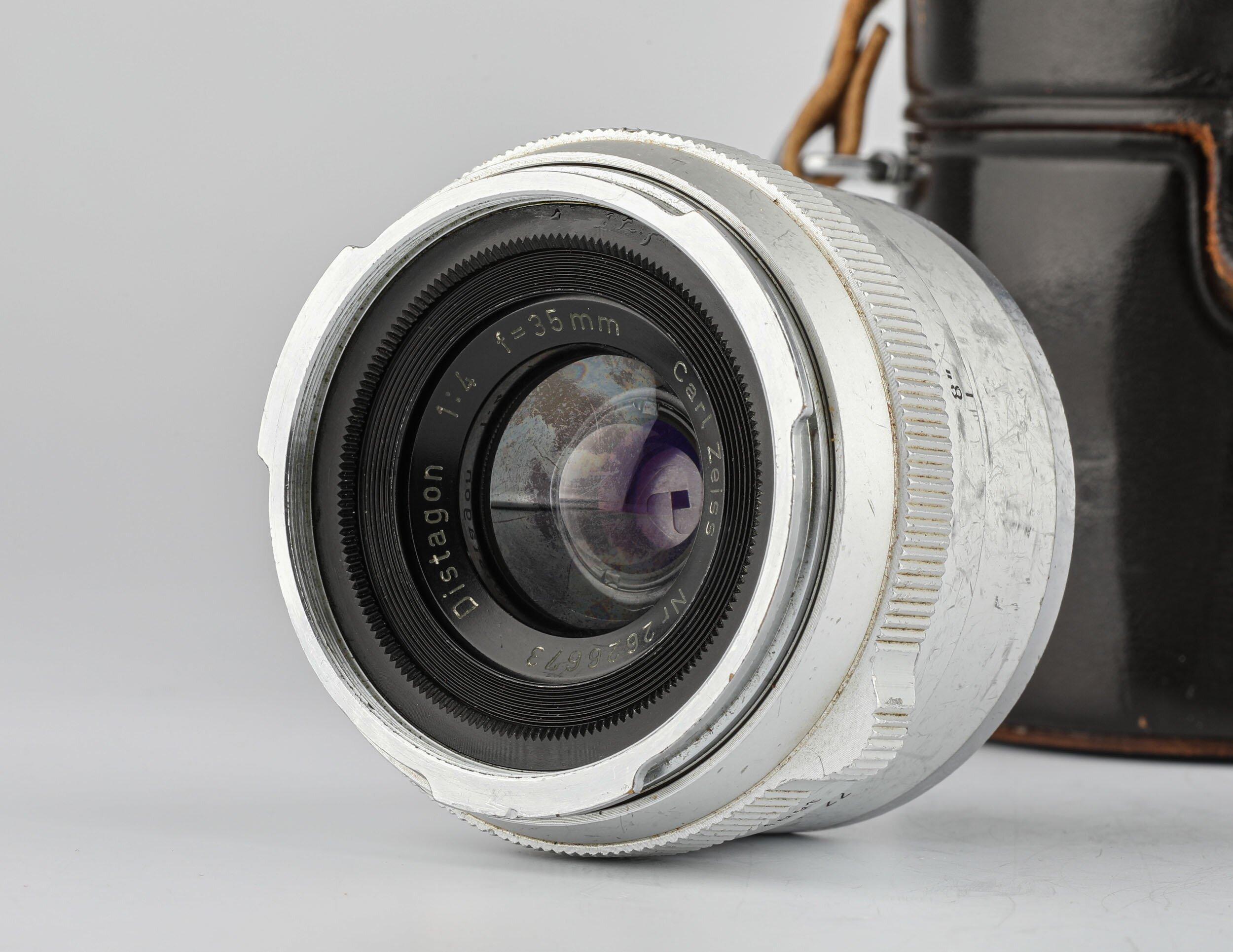 Carl Zeiss Distagon f.Contarex 4/35mm chrom Objektiv