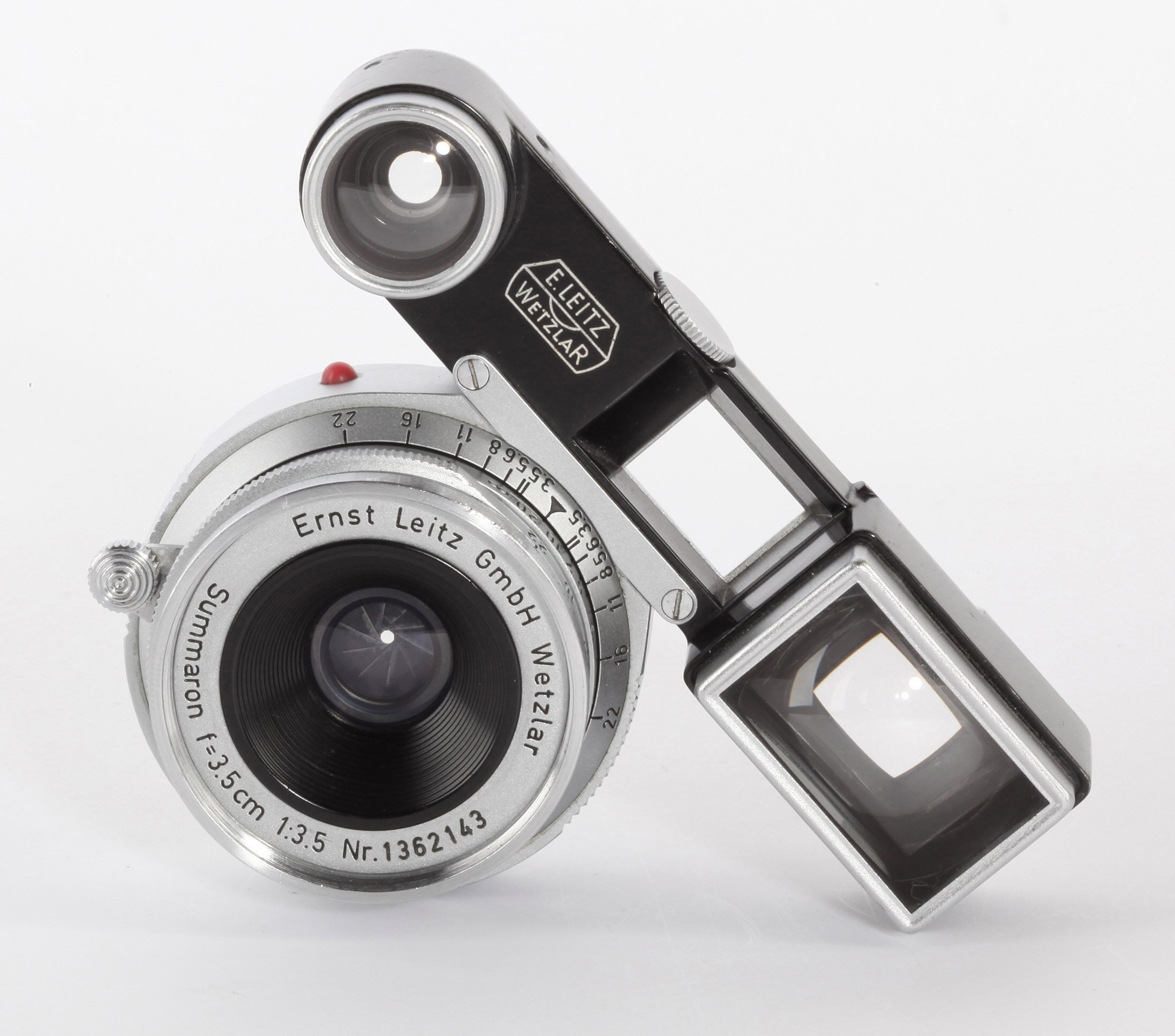 Leica 3,5cm 3,5 Summaron black painted Brille