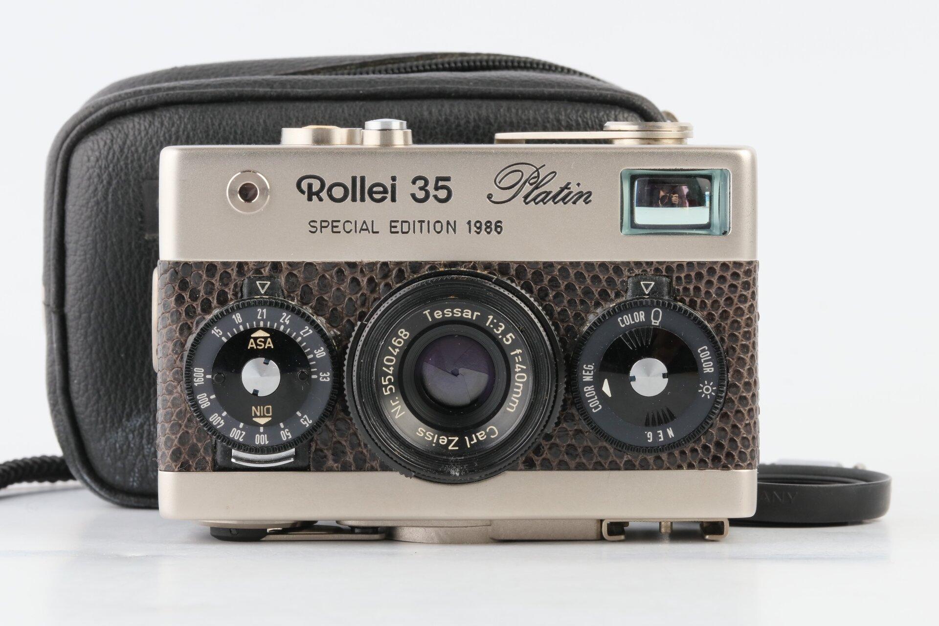 Rollei 35 Platin Special Edition 1986 mit Tessar 40mm F3,5