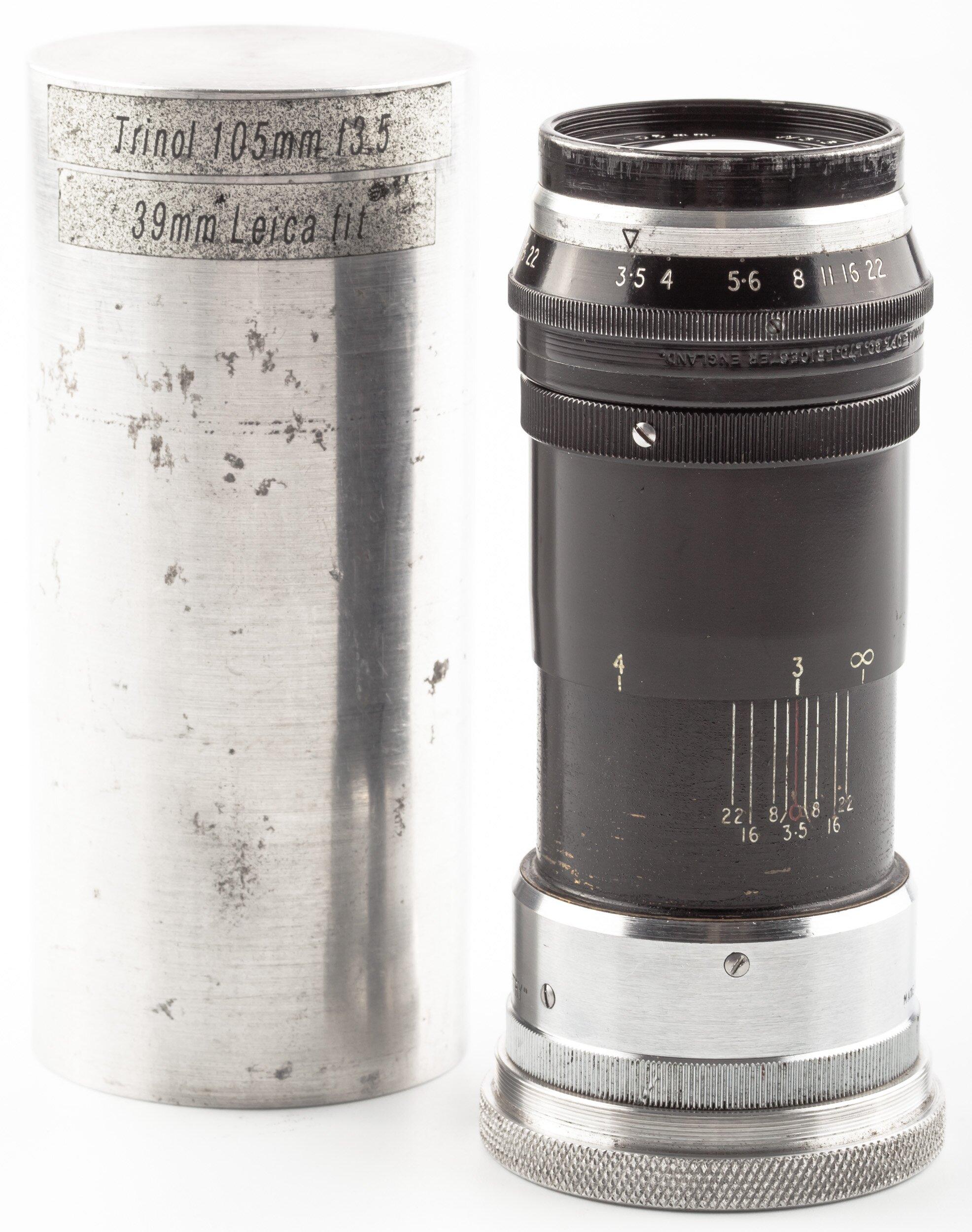 Stewartry M39 Trinol Anastigmat 3,5/105mm