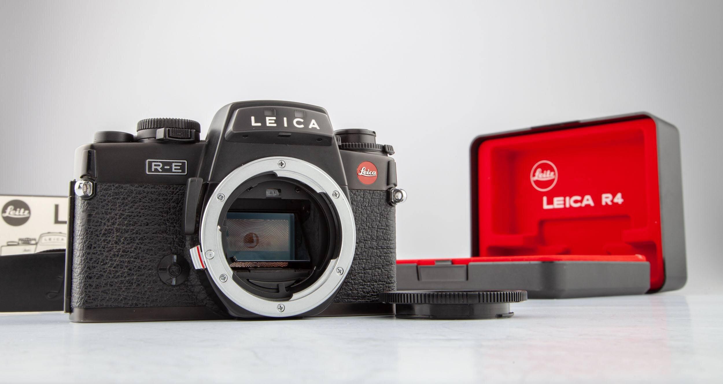 Leica R-E body schwarz OVP
