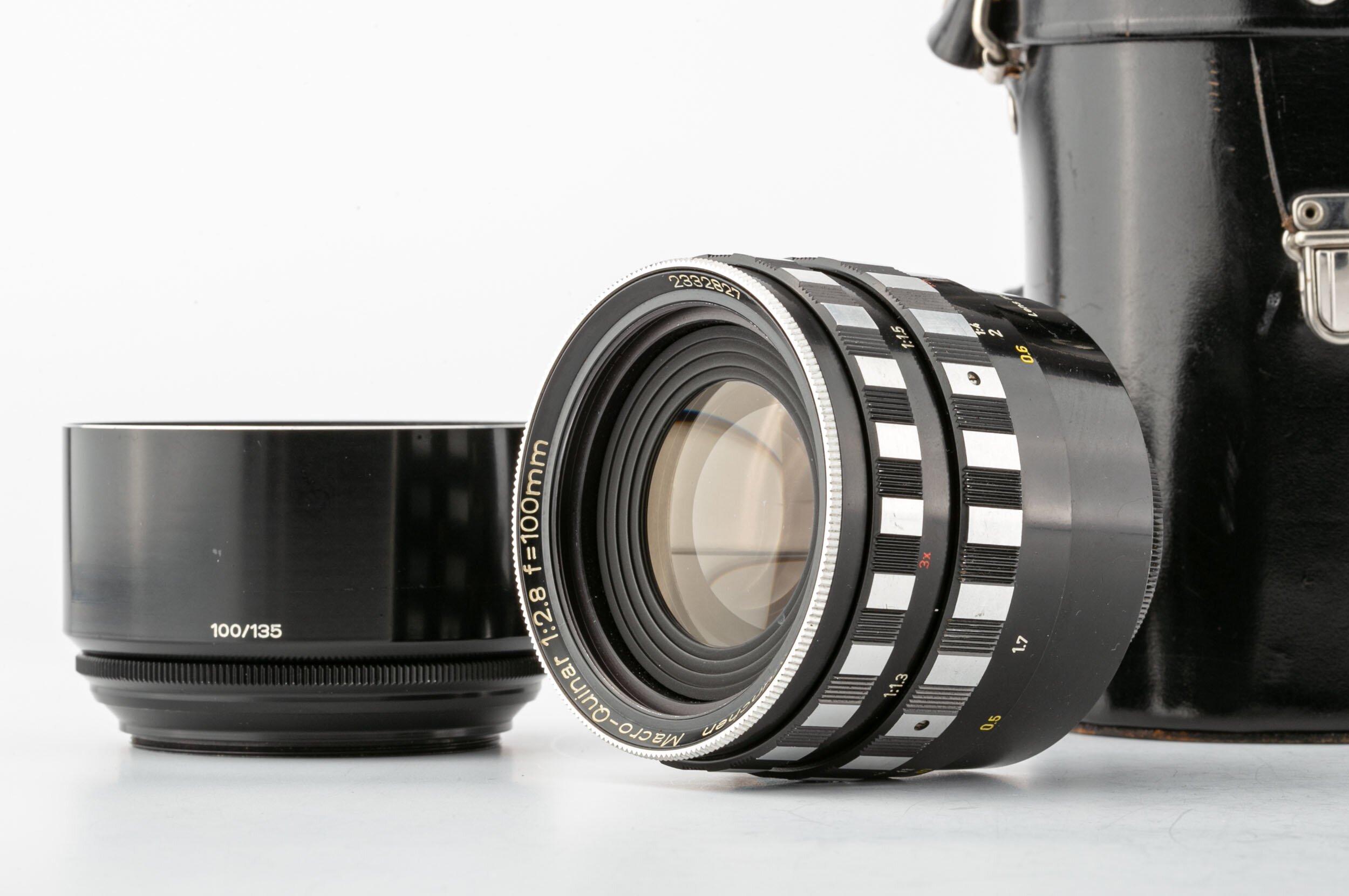 Steinheil Objektiv Macro-Quinar 2,8/100 mm Exakta