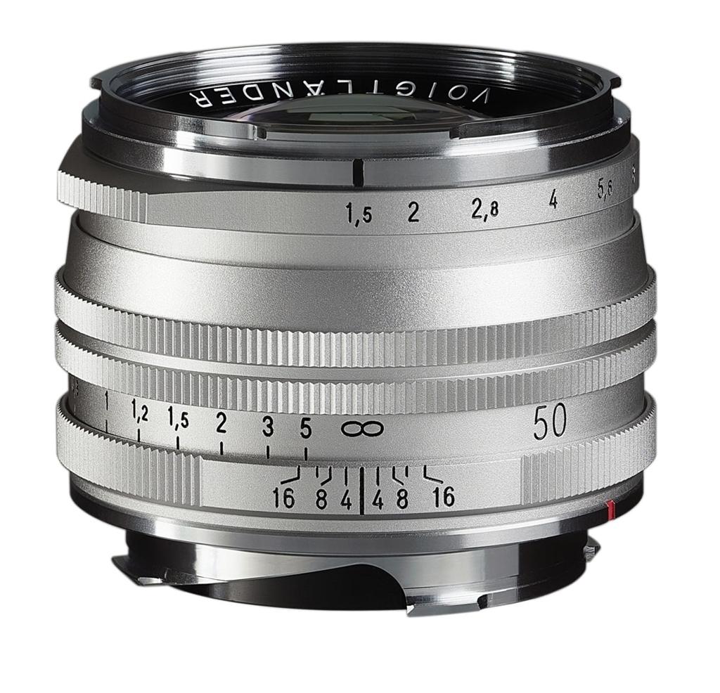 Voigtländer VM 50mm 1:1,5 Nokton S.C. asphärisch Leica M silber