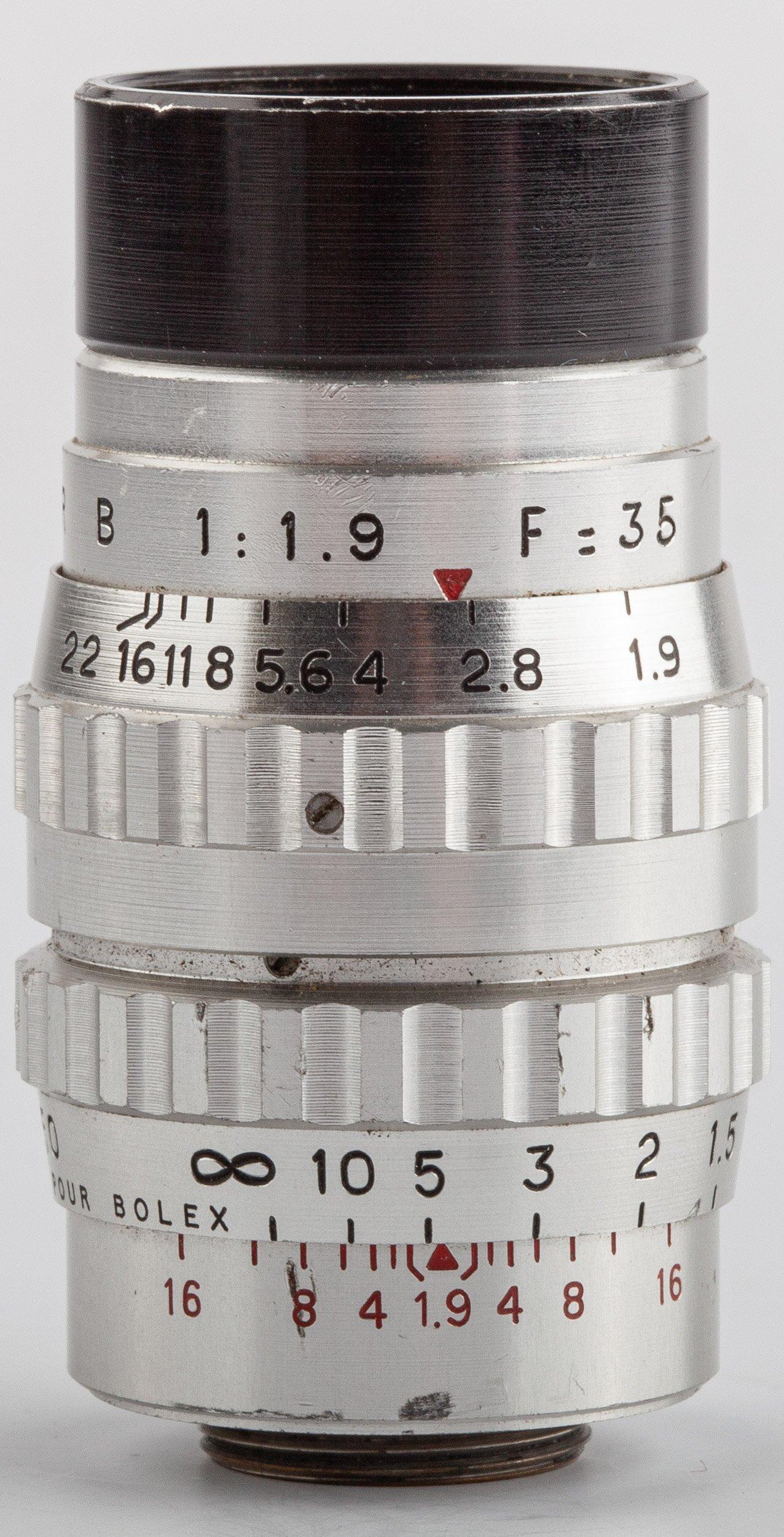 SOM Berthiot Cinor B 1,9/35mm d-mount