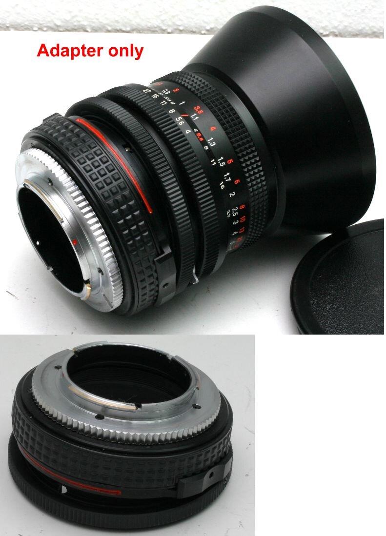Tilt Adapter Pentacon Six Lenses to Minolta Dynax