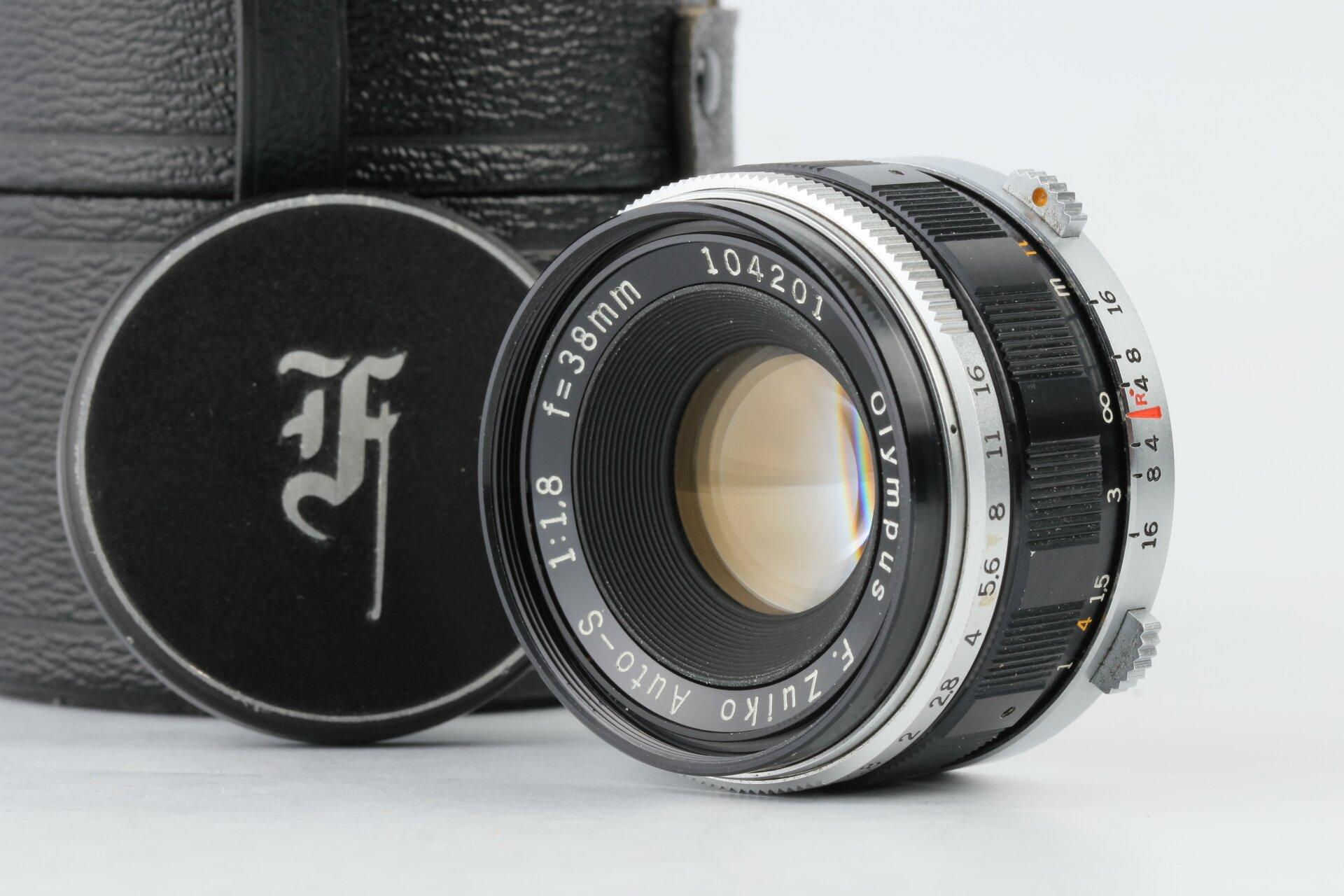 Olympus Zuiko Auto-S 1,8/38mm f. Pen F