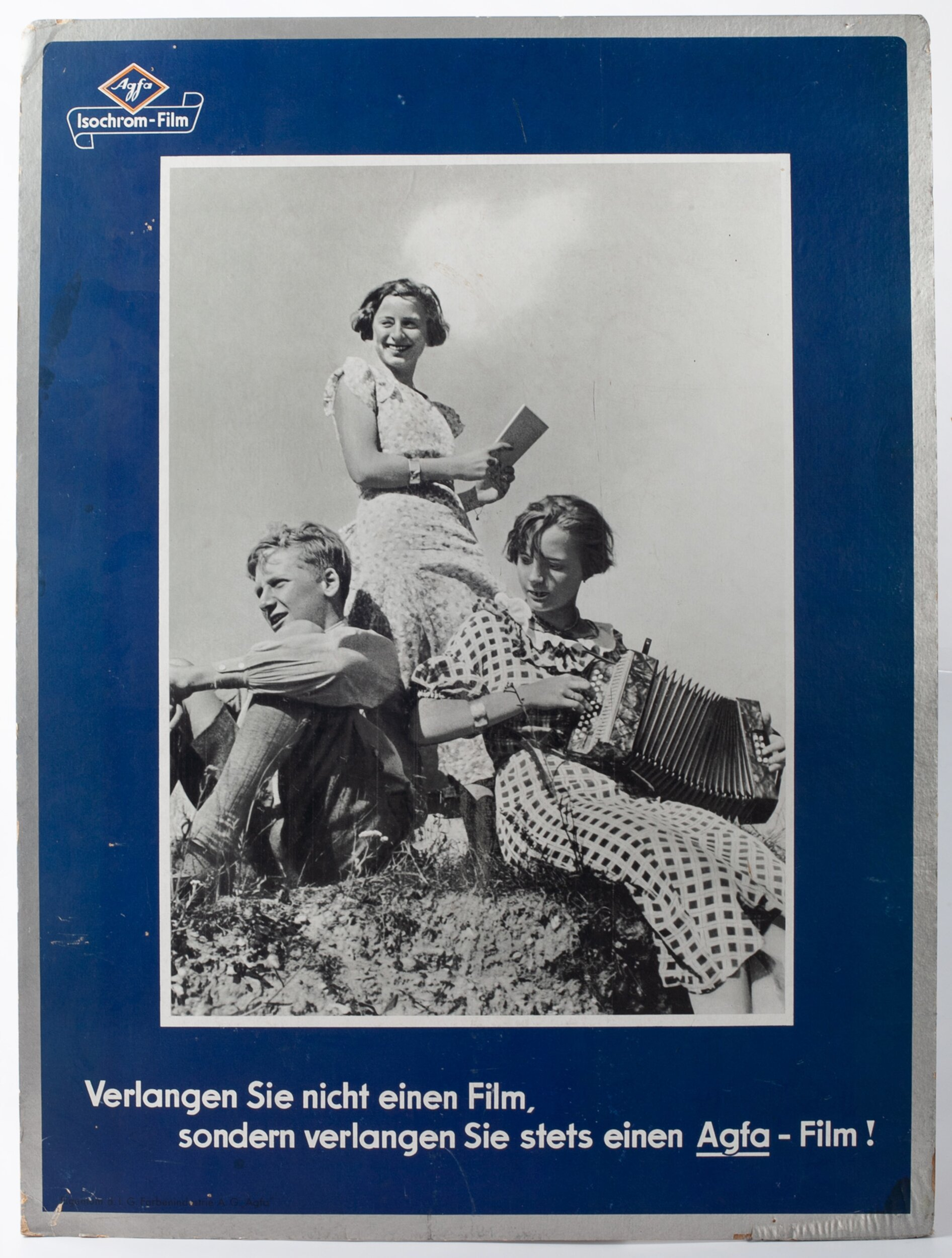 Agfa Isochrom-Film Werbeschild 80x60cm
