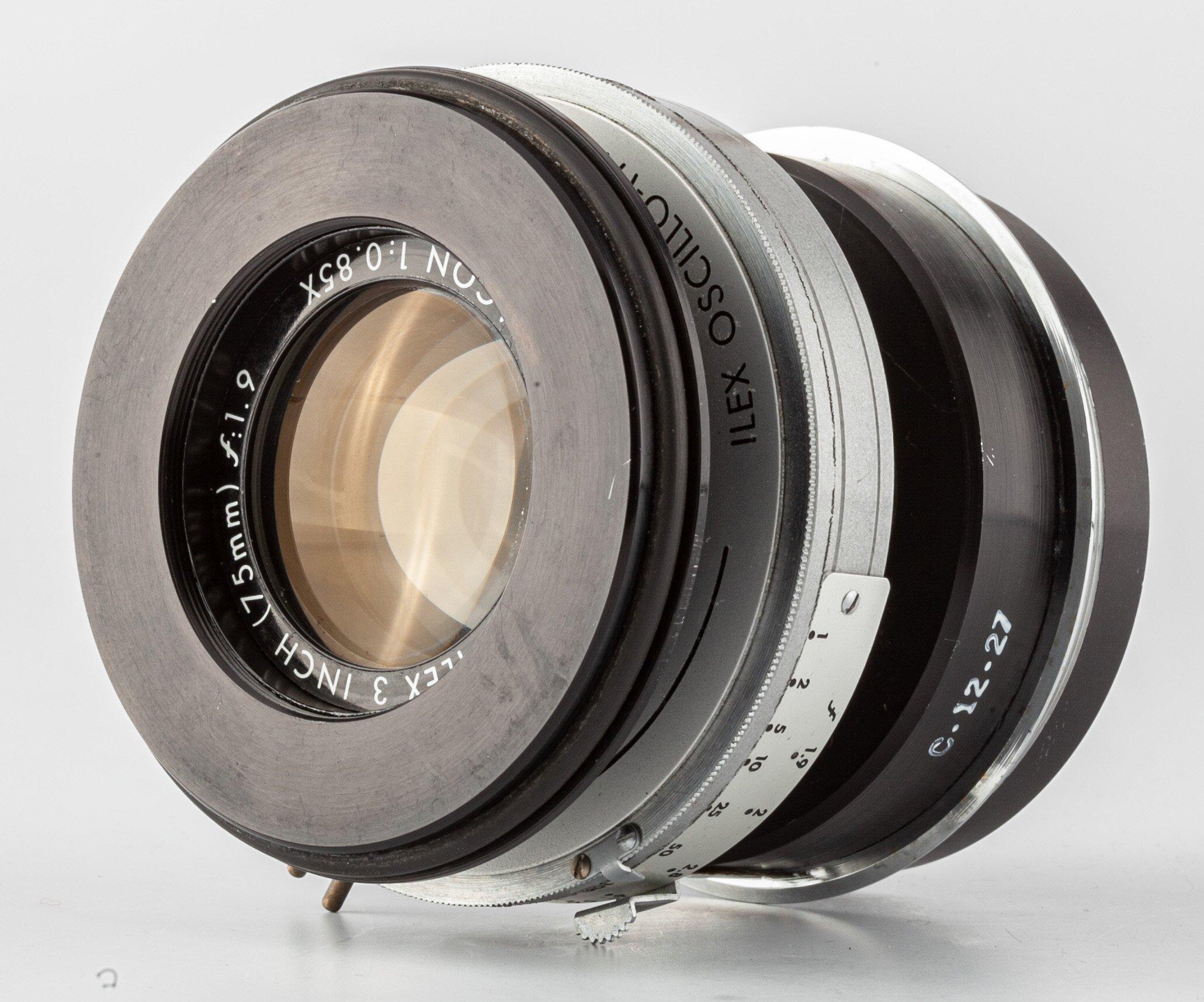 Oscillo-Paragon 1:0.85X f:1,9/75mm Ilex 3 INCH