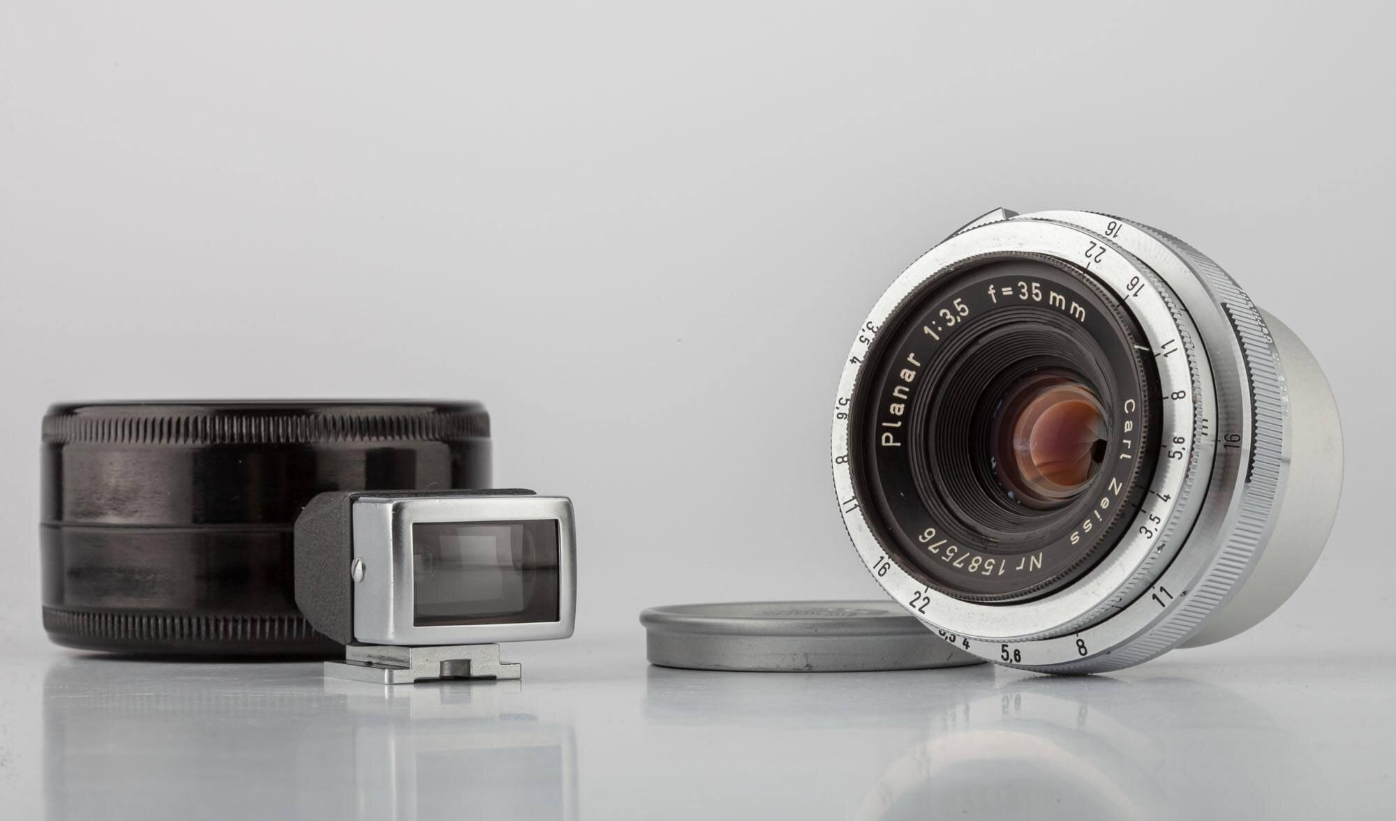 Carl Zeiss f. Contax RF + Planar 3,5/35mm + Sucher 432/5