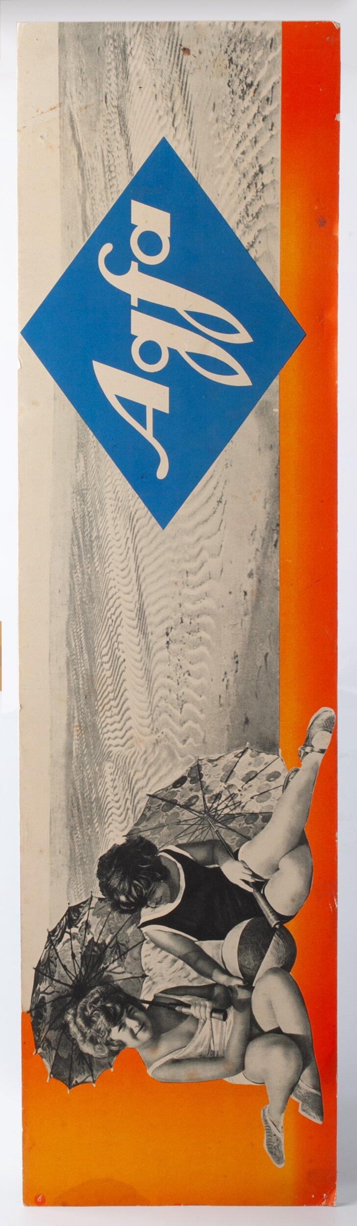 Agfa Werbeschild Kinder am Strand 99x26,5cm