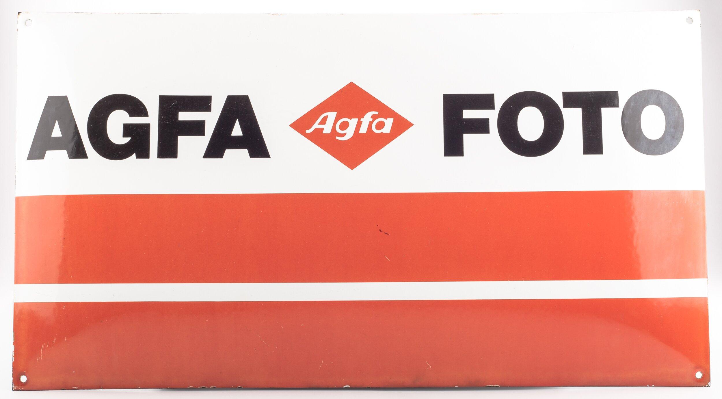 Agfa Foto Werbeschild Email/Blech 60x33cm