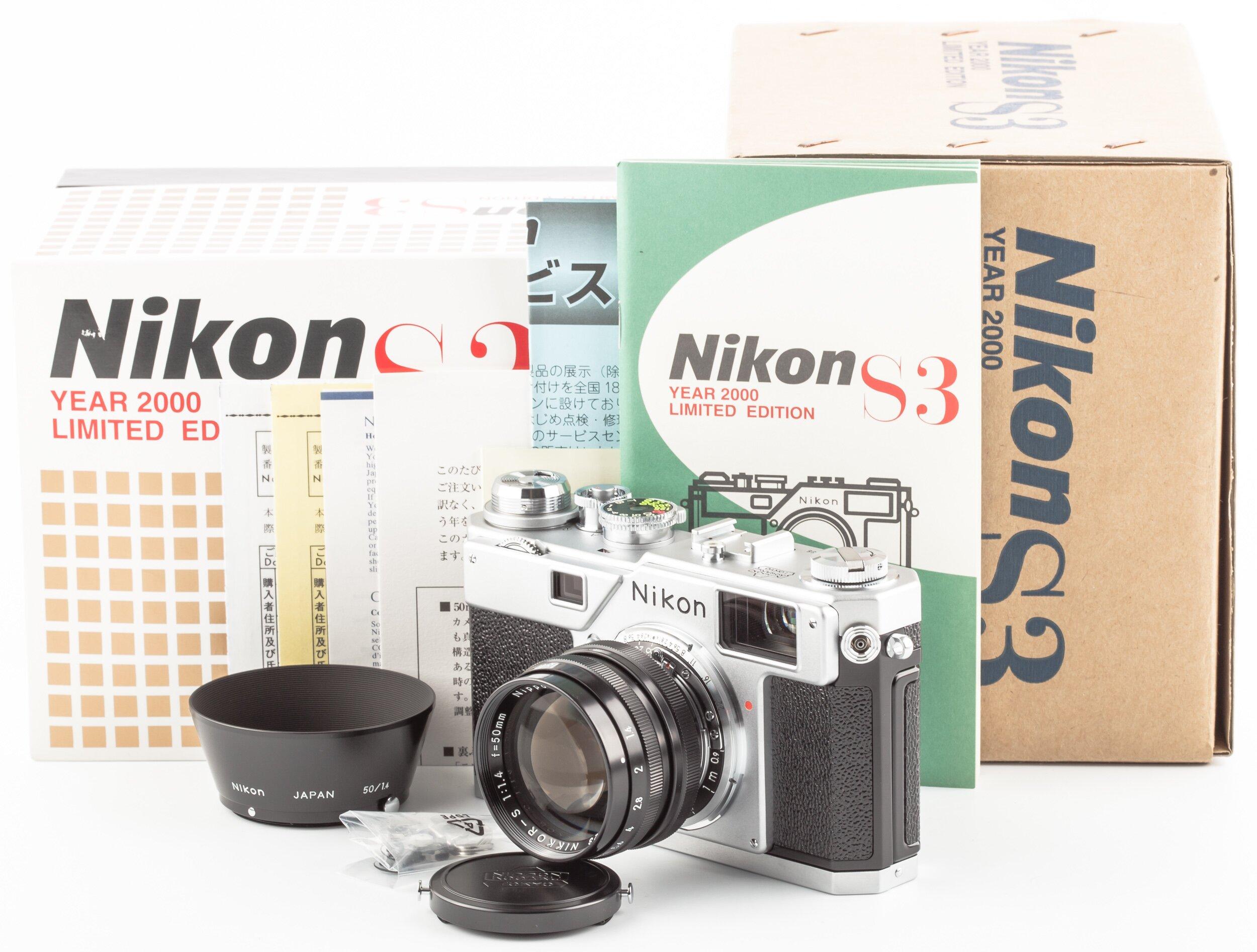 Nikon S3 Year 2000 Limited Edition mit Nippon-Kogaku Nikkor-S 1,4/50mm