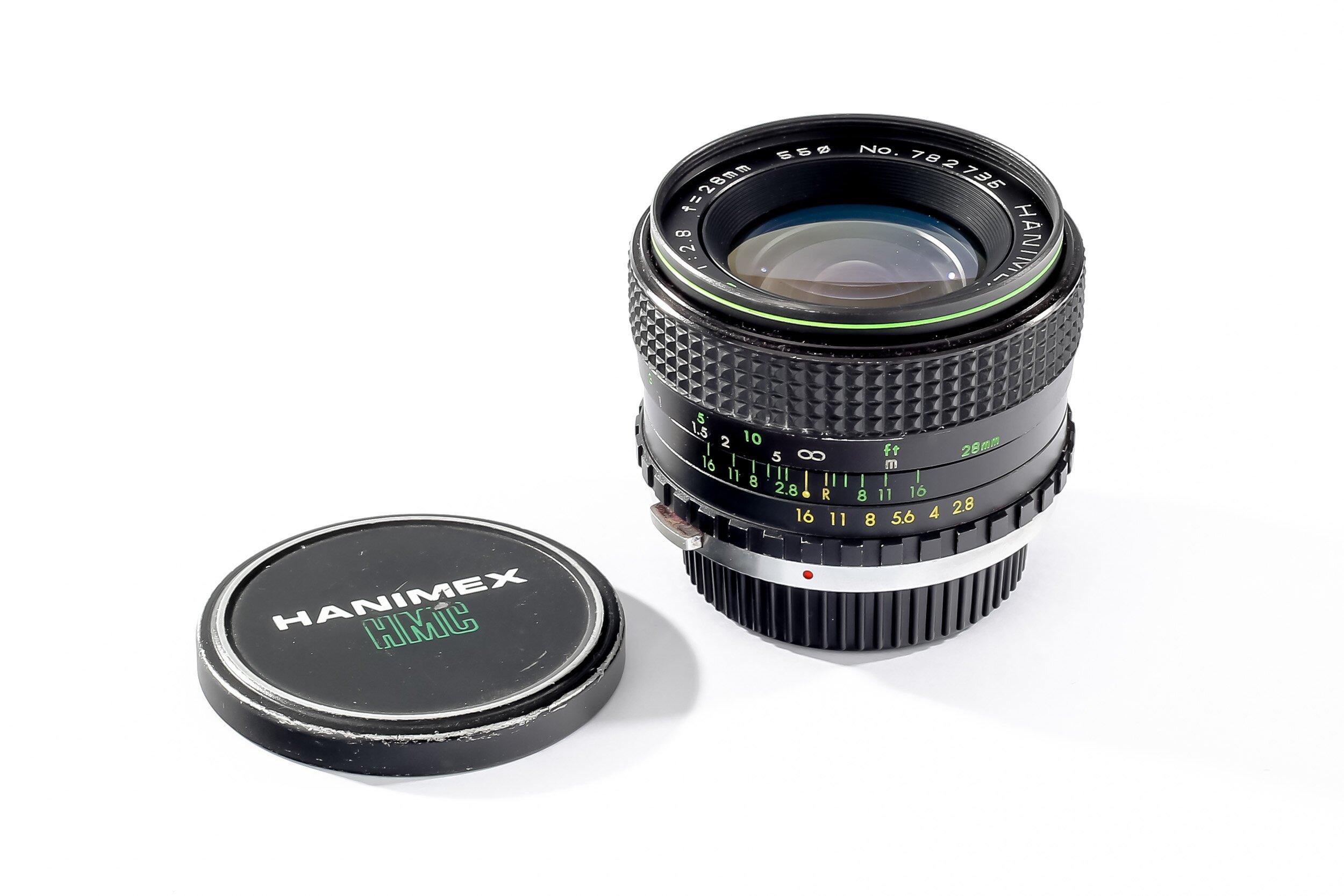 Hanimex f. Olympus 2,8/28mm Automatic MC