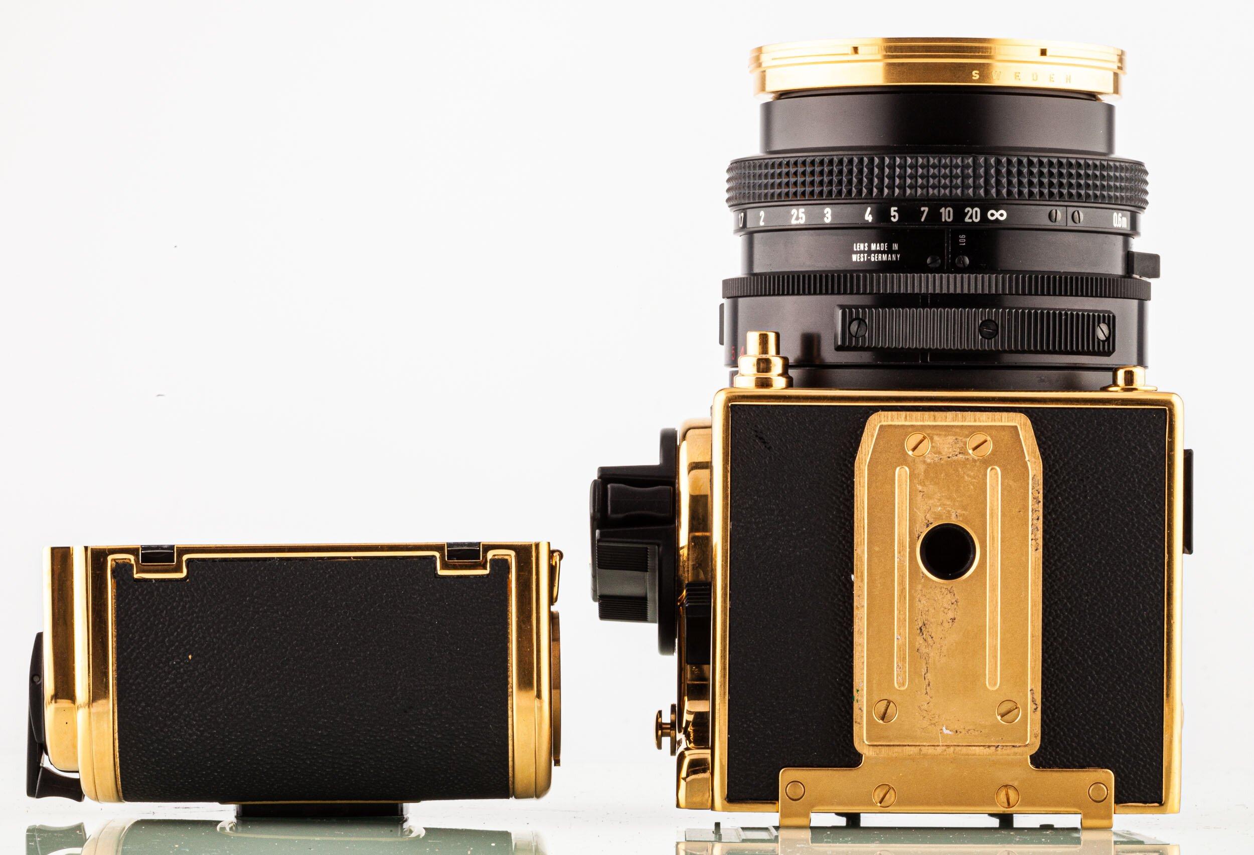Hasselblad 2000 FC/M GOLD + Planar 2,8/80mm + Magazin12