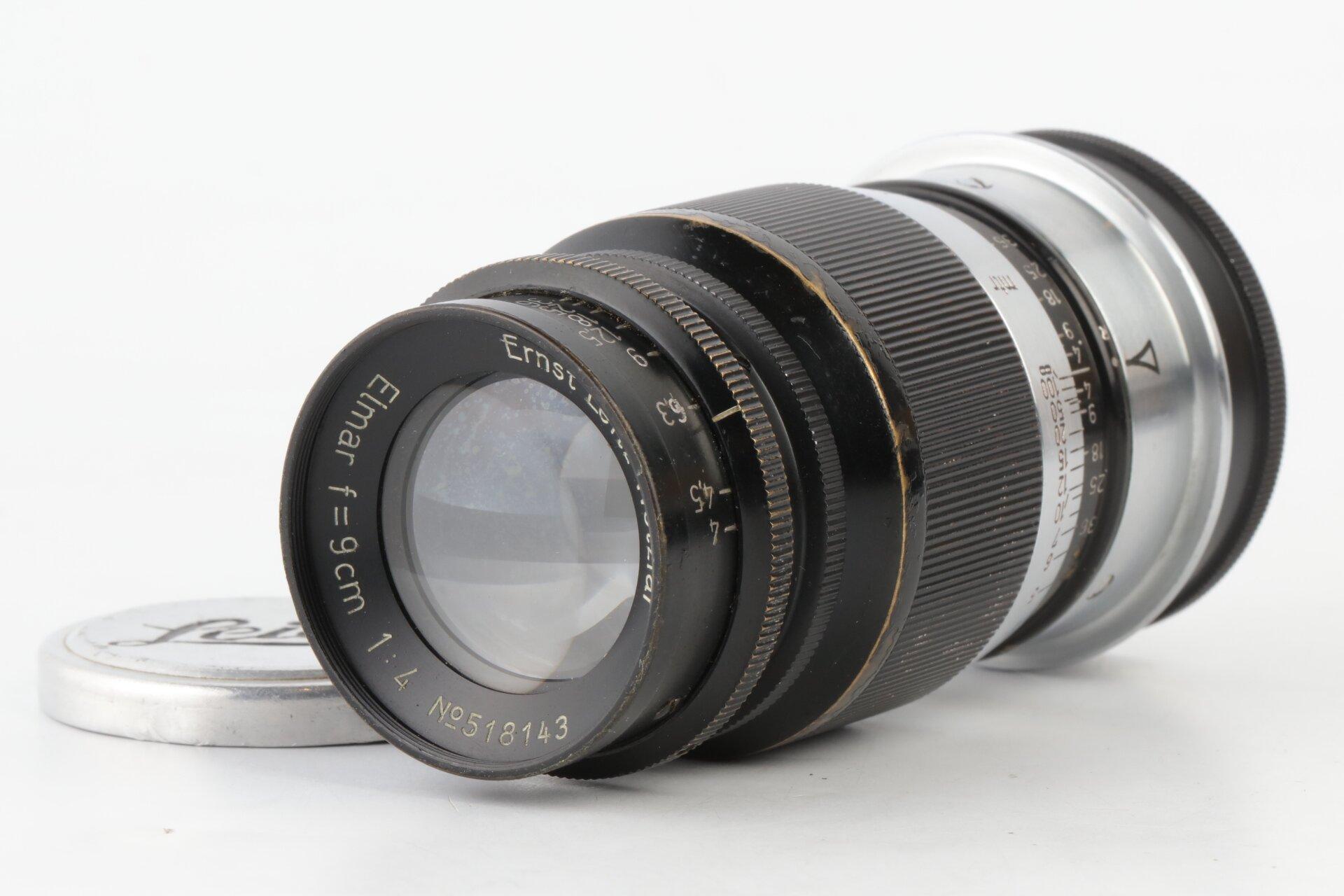Leica Elmar 9cm 4 schwarz M39