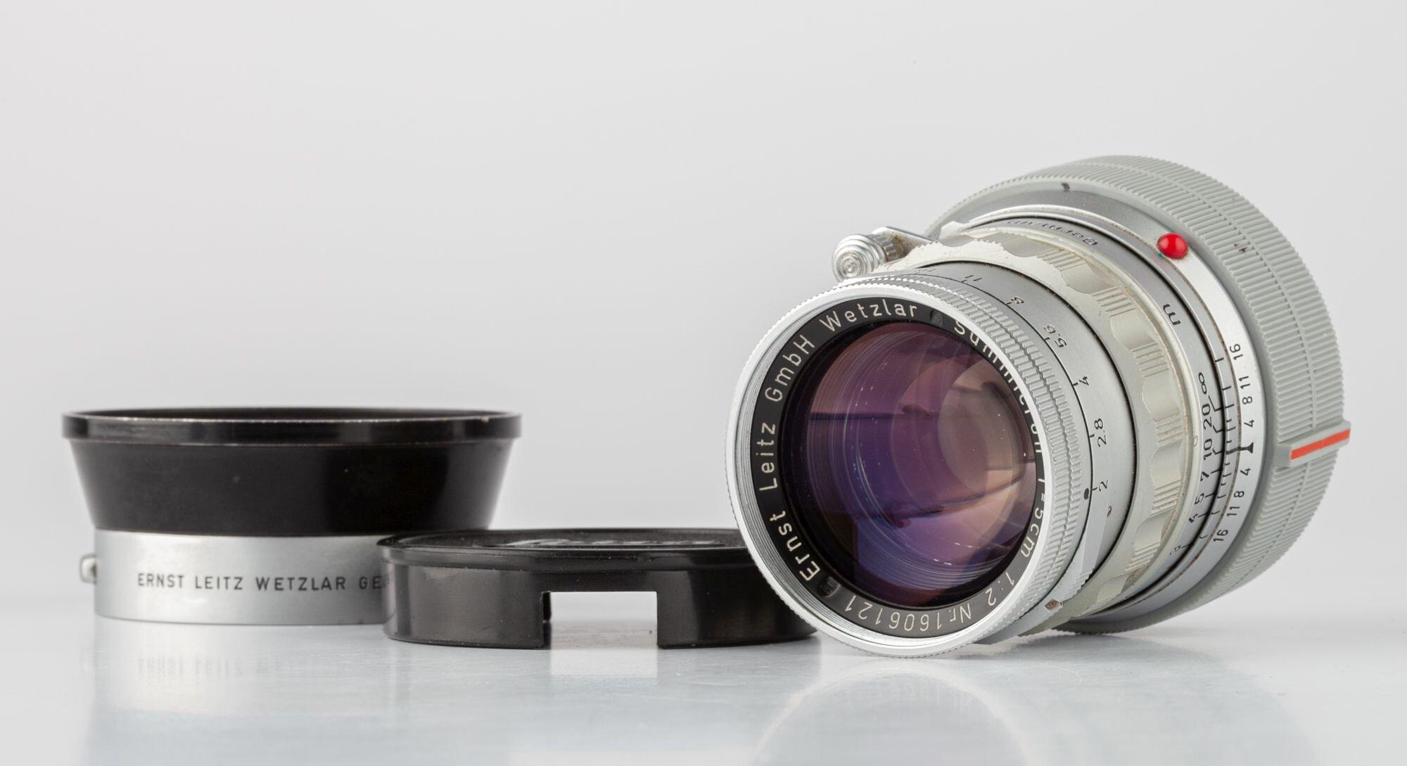 Leica Summicrom-M 5cm F2 chrom 1958 rigid