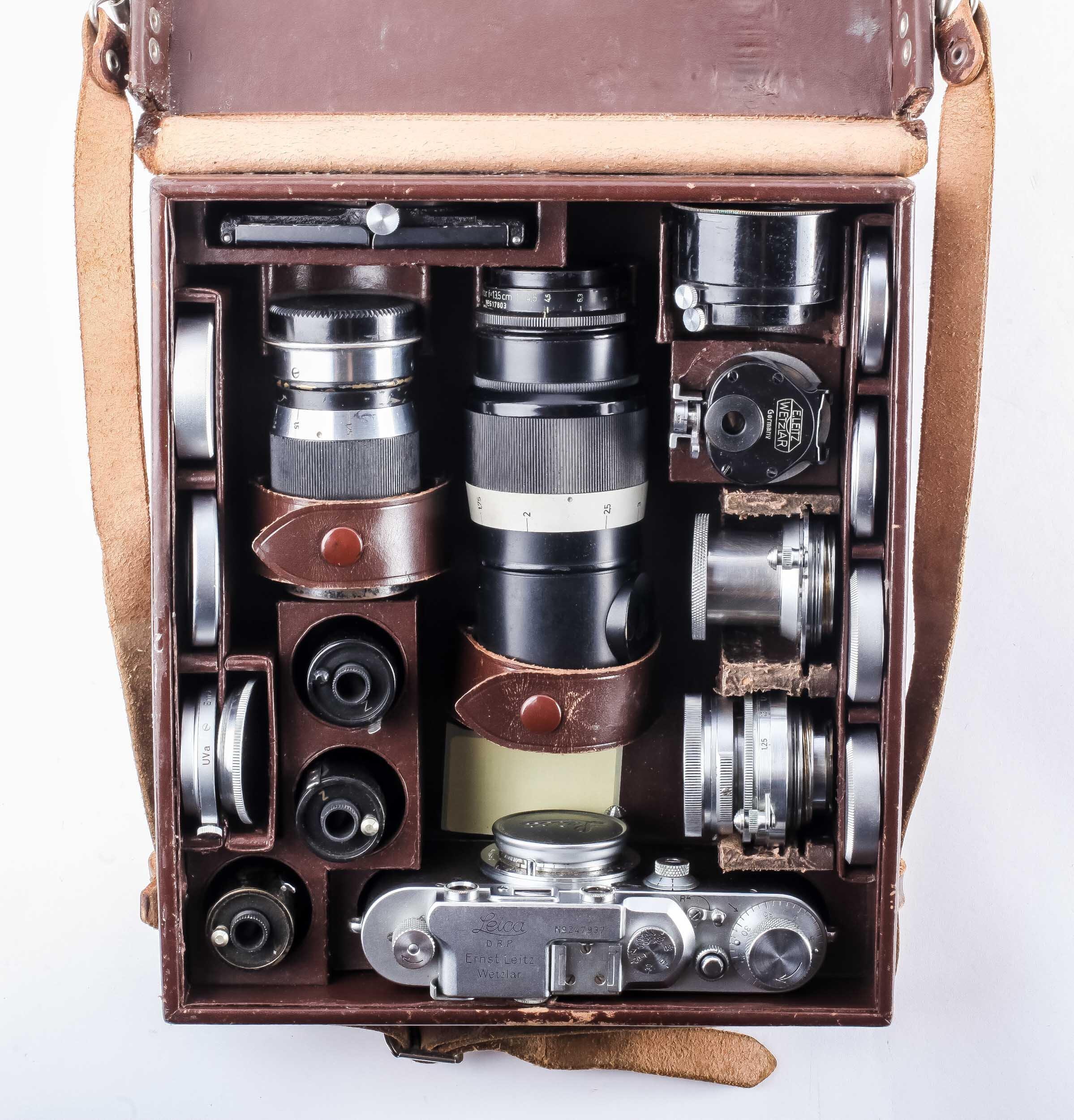 Leica Fotokoffer IIIC mit vier Objektive 1941 WW2